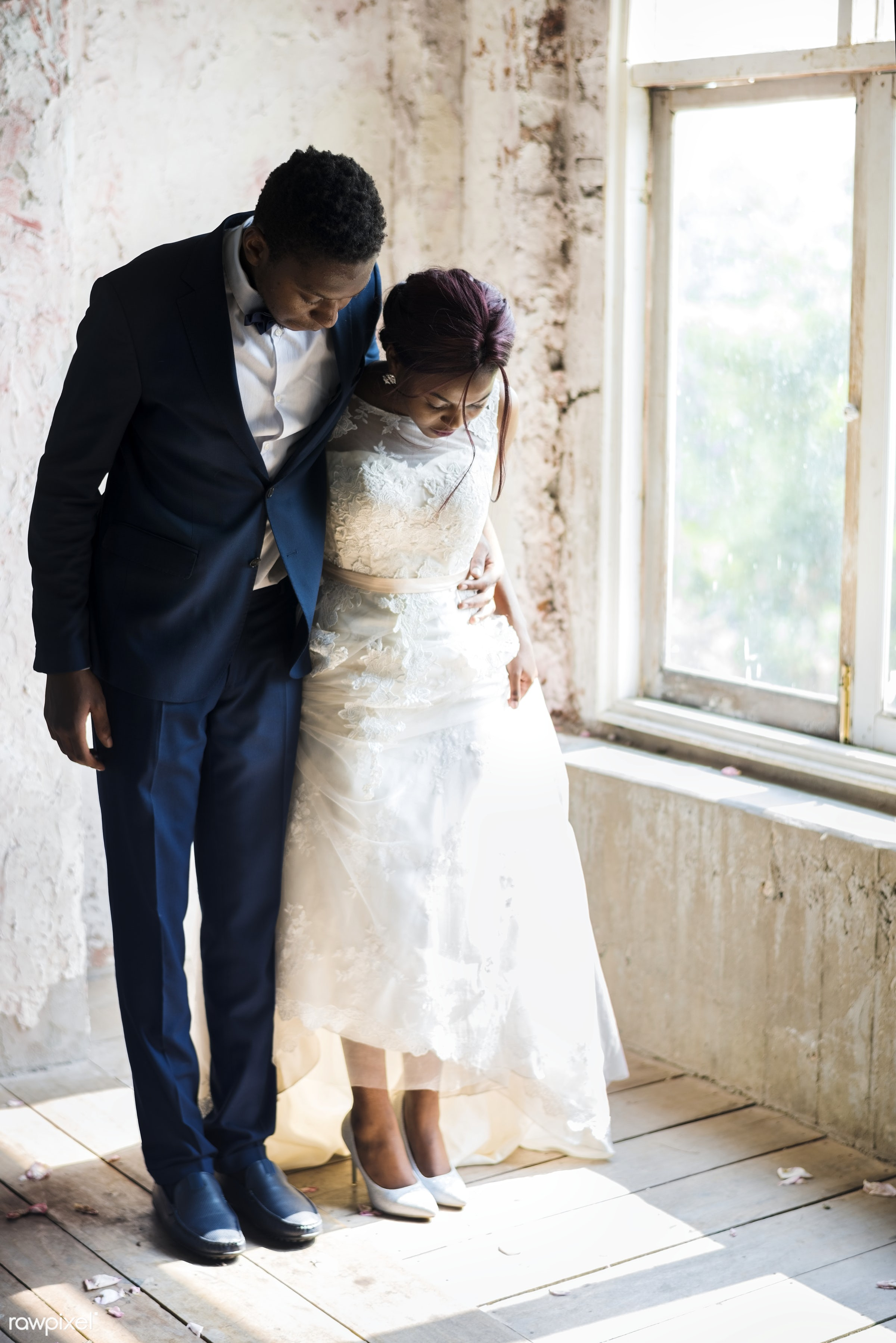 african descent, black, bride, ceremony, couple, engagement, fiance, formal, groom, marriage, married, mature, newlywed,...