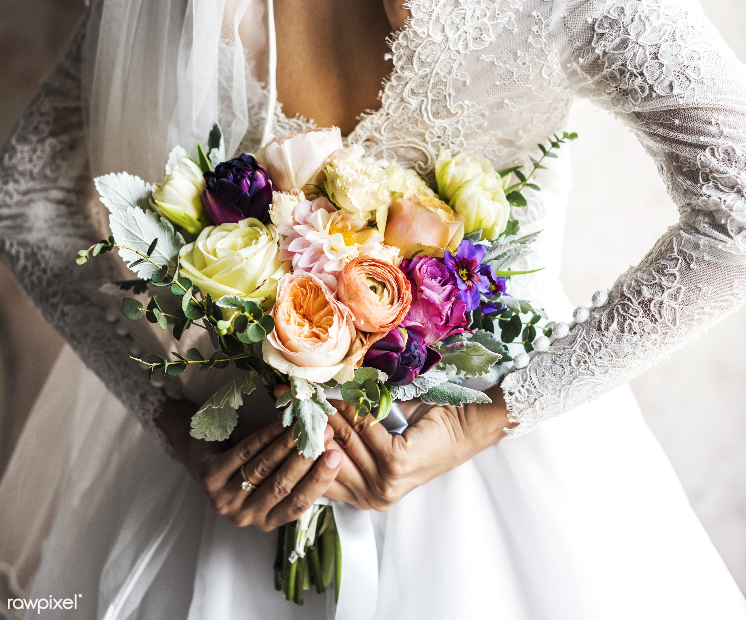 bouquet, ranunculus, holding, diverse, tulips, real, nature, hands, fresh, woman, mixed, flowers, flora, variety, mature,...