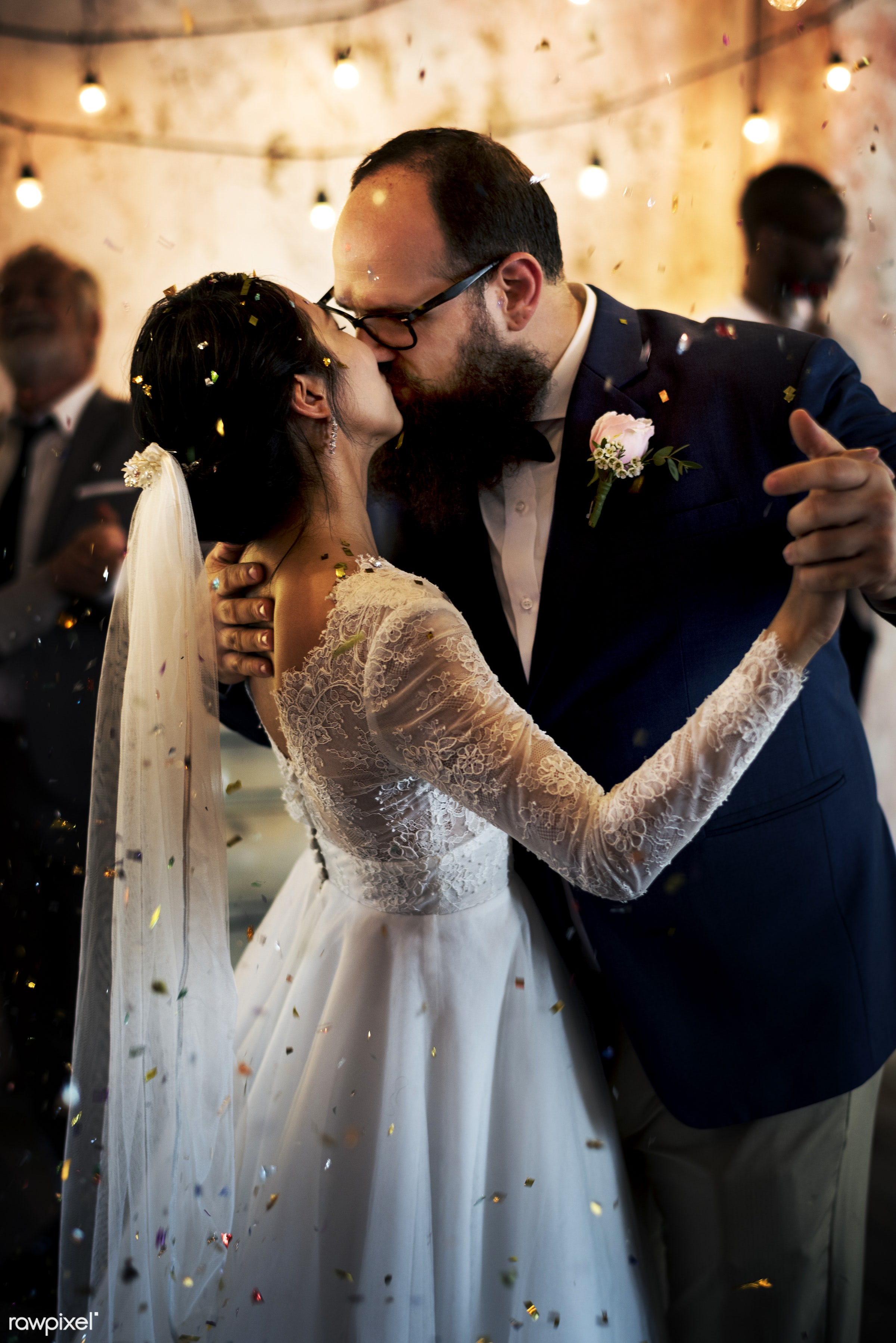 holding, occasion, asian bride, people, together, love, married, gala, hands, spouse, banquet, cheerful, closeup, kissing,...