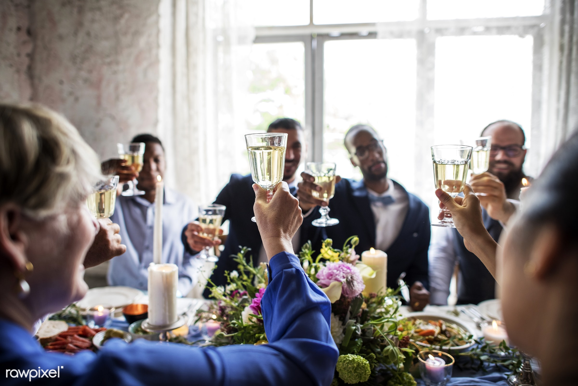 banquet, beverage, celebrate, celebration, ceremony, champagne, cheerful, cheers, clink, congrats, congratulations,...
