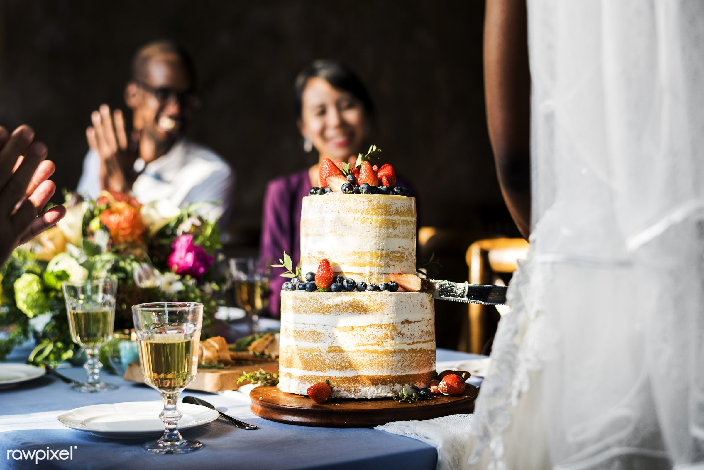 occasion, guests, congratulations, people, together, love, married, friends, congrats, hands, gather, event, couple, bride,...