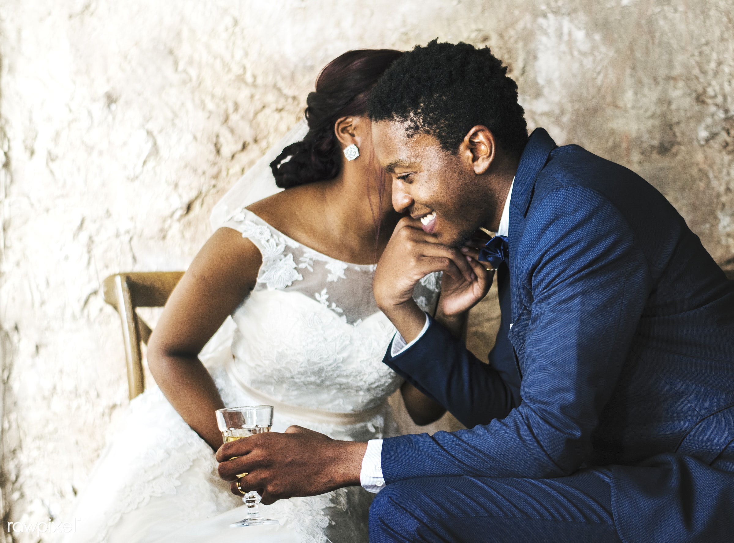 holding, occasion, people, love, married, hands, spouse, bride, cheerful, black, kissing, african descent, newlywed,...