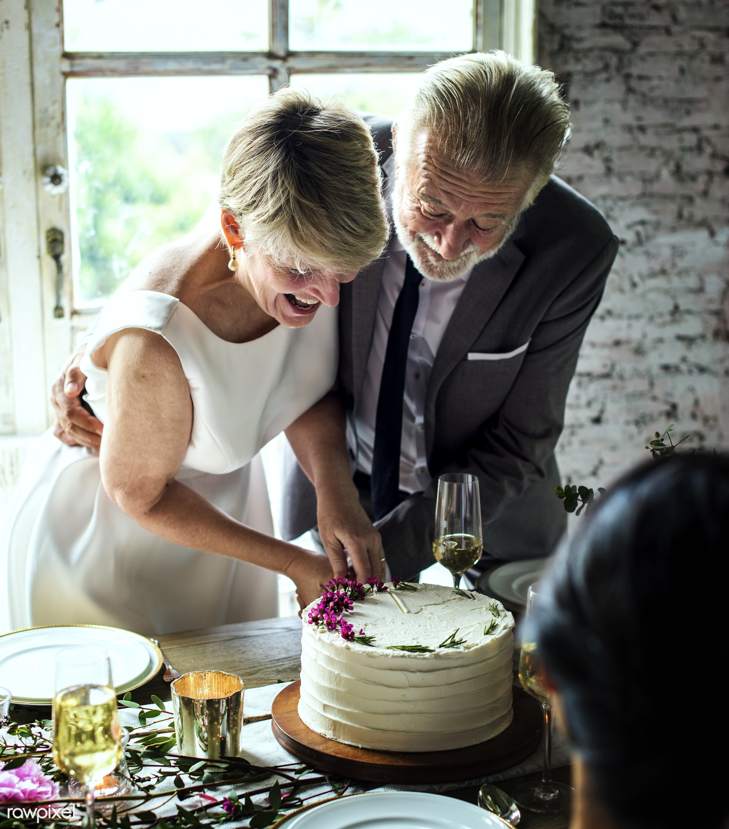 cake, celebrate, elder, event, bride, celebration, ceremony, closeup, congrats, congratulations, couple, cut, dessert,...