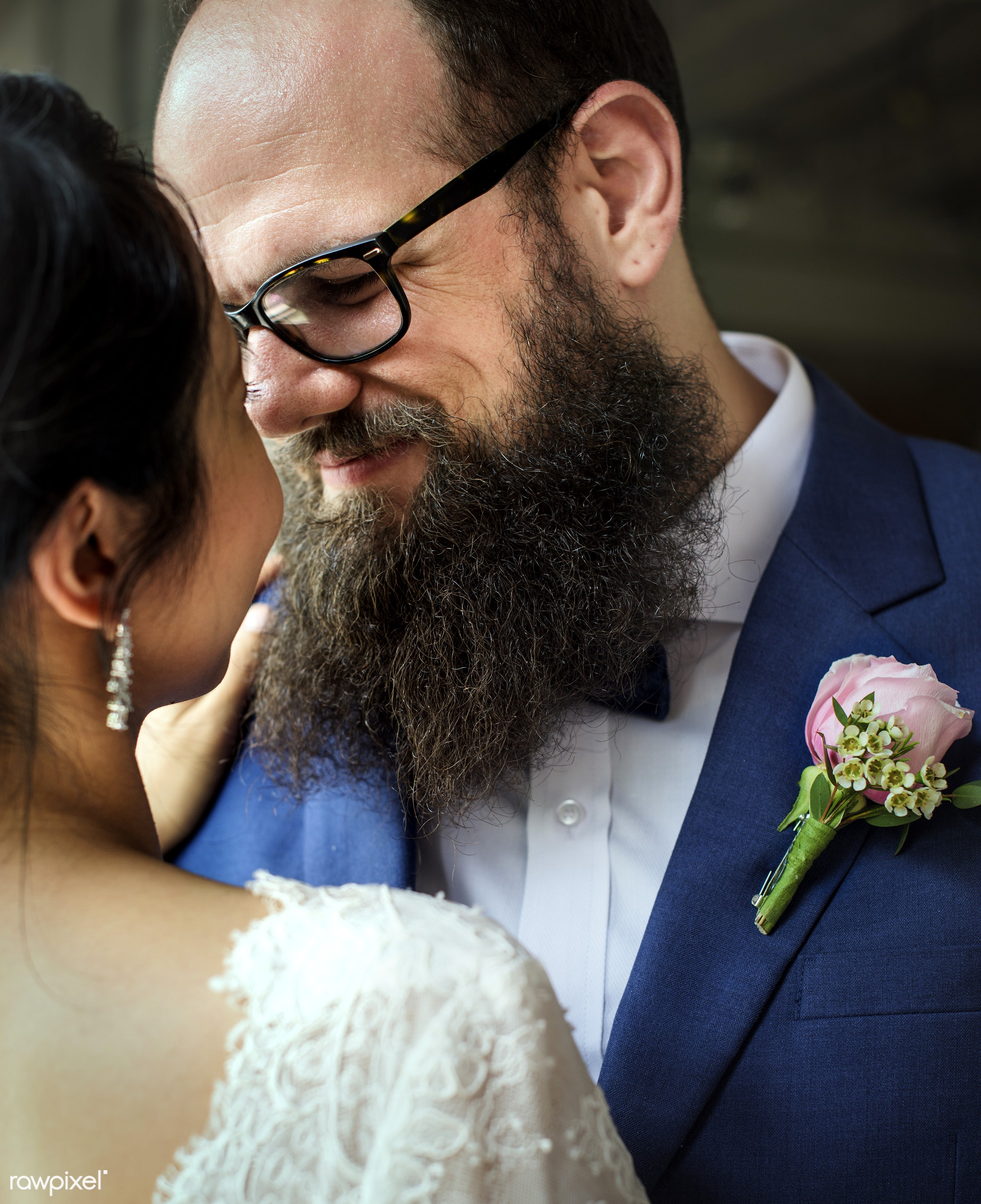bouquet, occasion, people, together, asian, caucasian, love, married, hands, couple, bride, flowers, cheerful, smiling,...