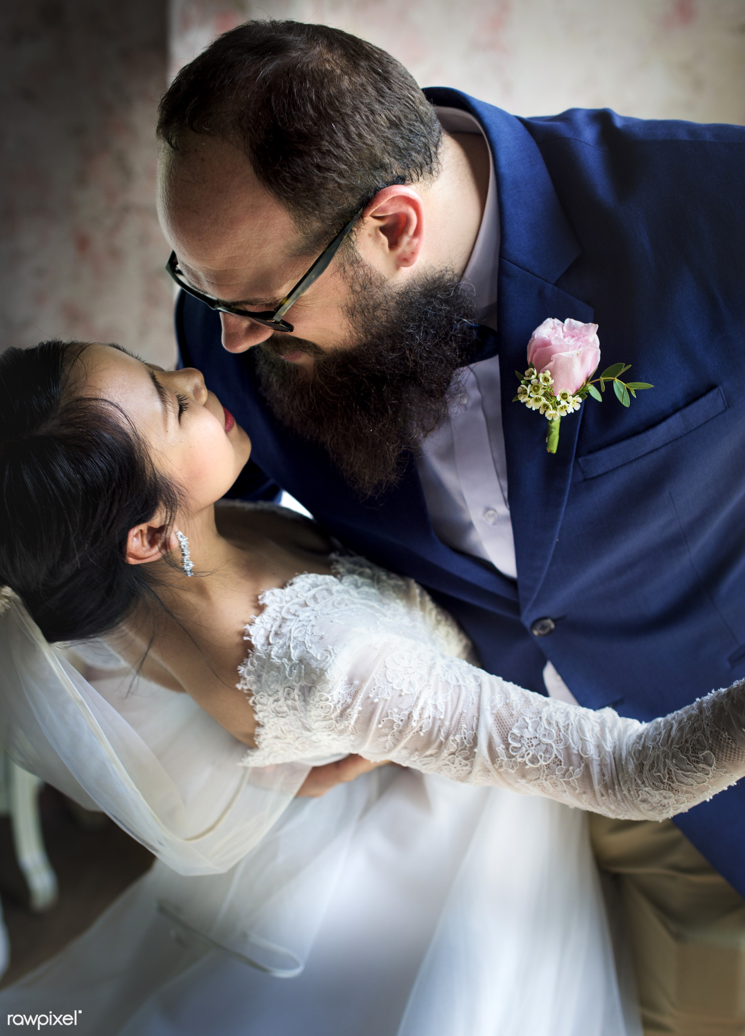 holding, occasion, asian bride, people, together, love, married, gala, hands, spouse, banquet, cheerful, closeup, caucasian...
