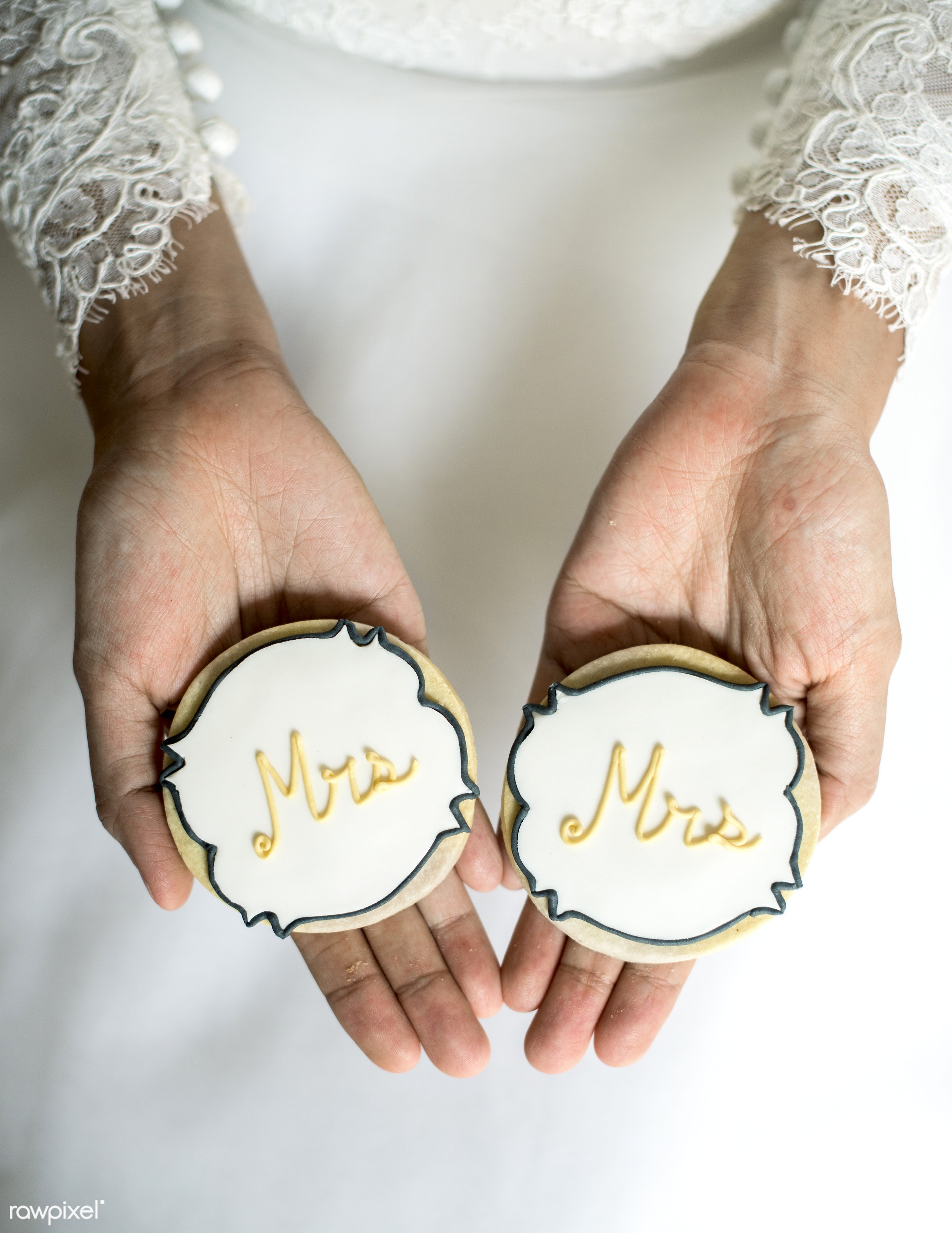 wedding, cookie, bakery, bridal, bride, celebration, ceremony, closeup, decoration, dessert, hands, love, marriage, married...