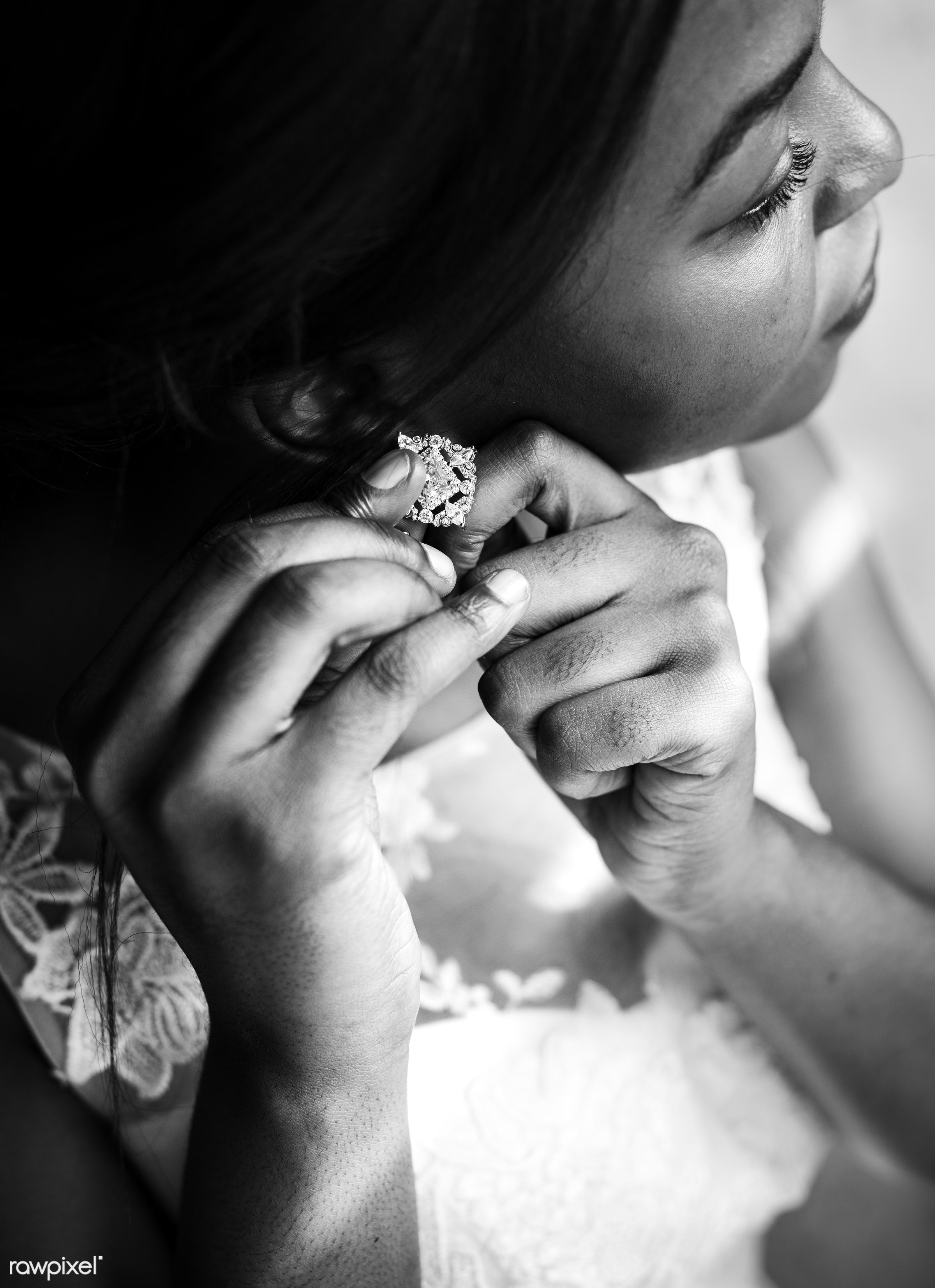 dress up, occasion, white dress, people, glamour, love, feminine, gown, bride, cheerful, marry, black, preparation, african...
