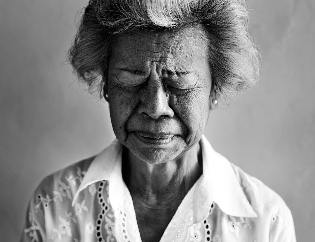 Elderly asian woman portrait