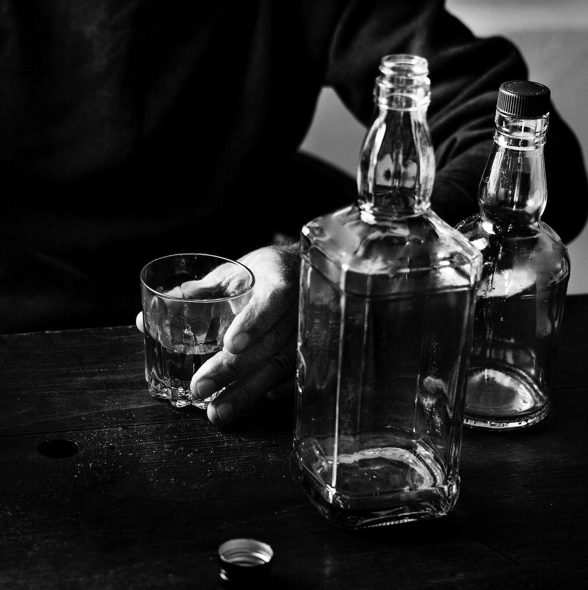Adults consuming alcohol shoot