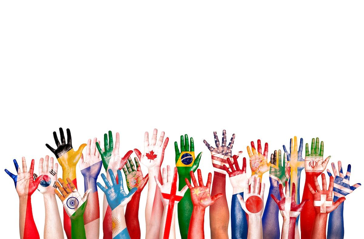 Hands Flag Symbol Diverse Diversity Ethnic Ethnicity Unity Concept Royalty Free Photo 79317