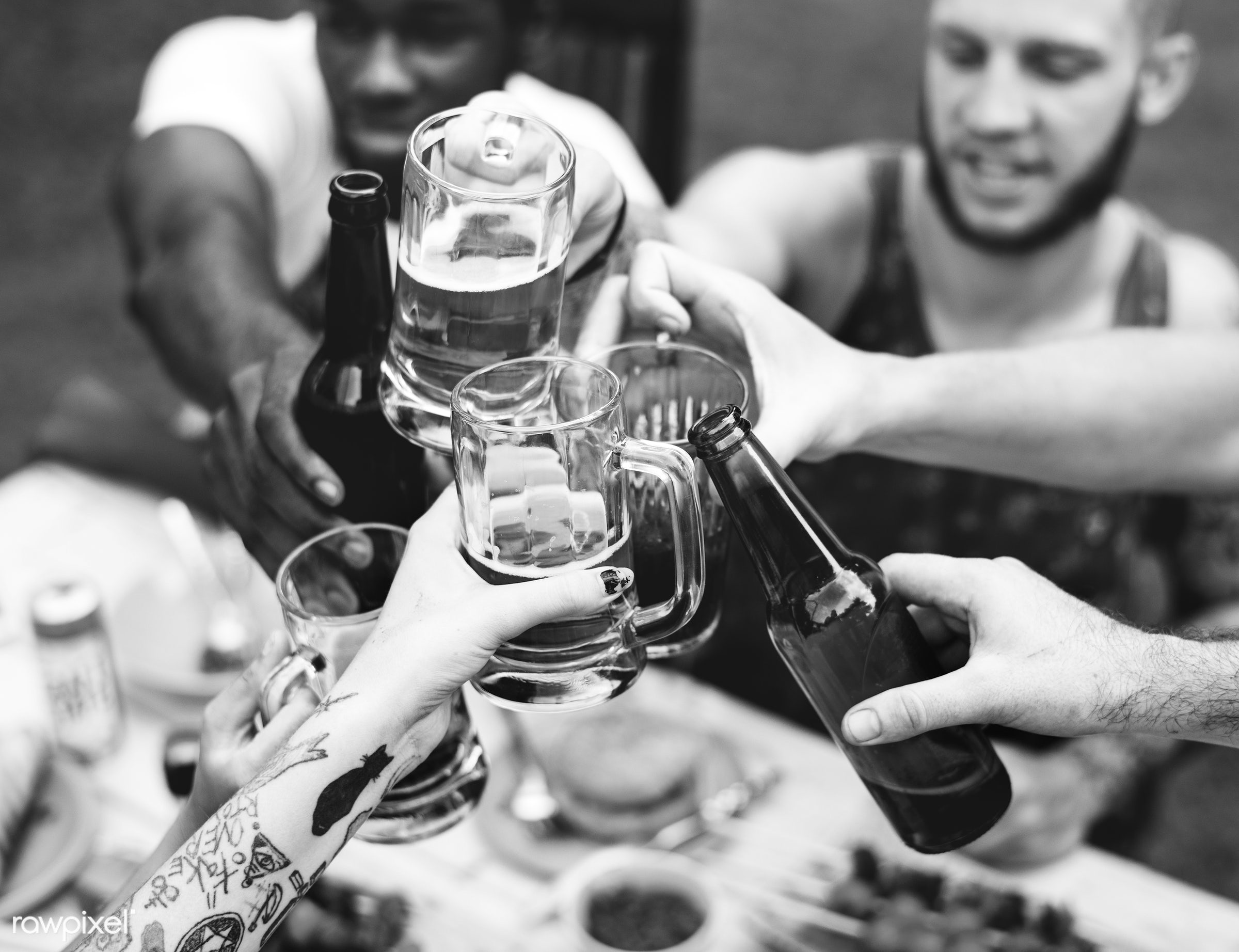 glasses, relax, drinks, together, friends, lifestyle, friendship, cheers, bottles, cheerful, diversity, togetherness,...