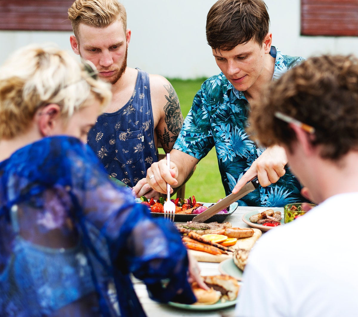 Summer time barbecue party outdoors