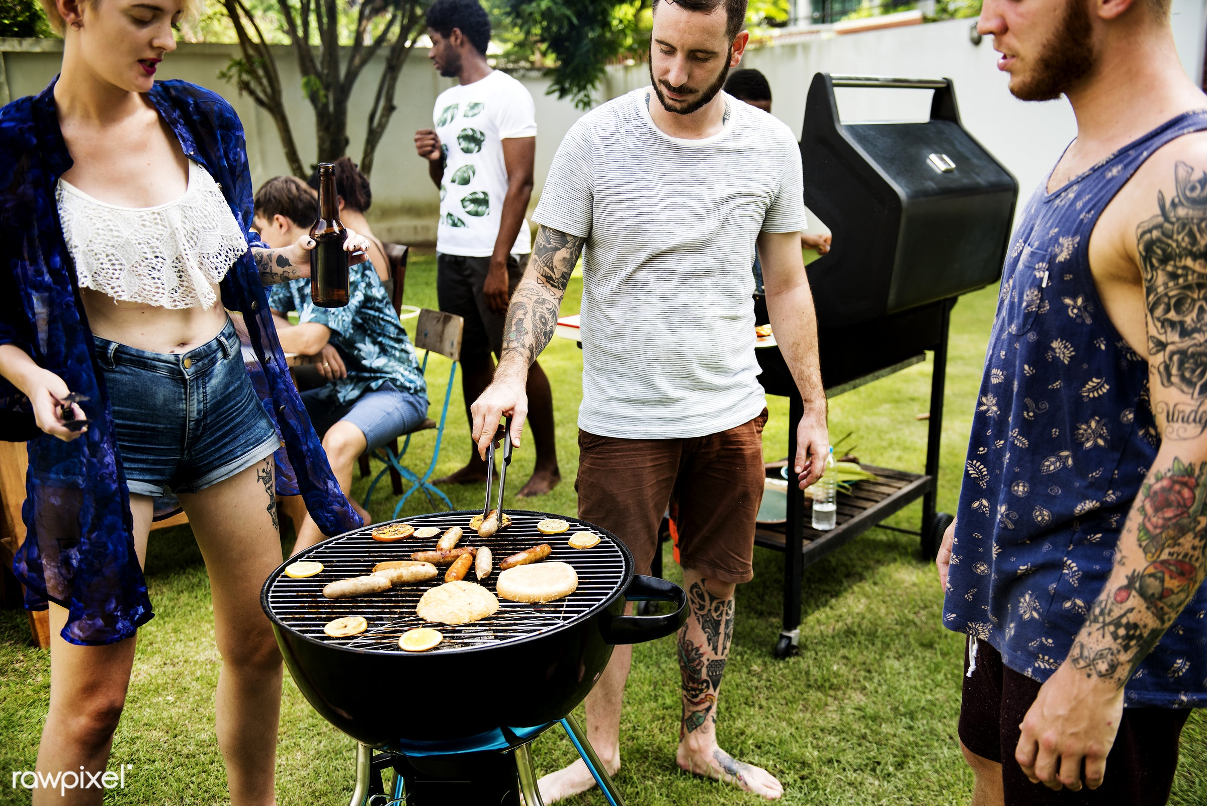 bbq, activity, barbecue, charcoals, cooking, diverse, food, friends, fun, grass, grill, group, hands, holiday, homemade,...