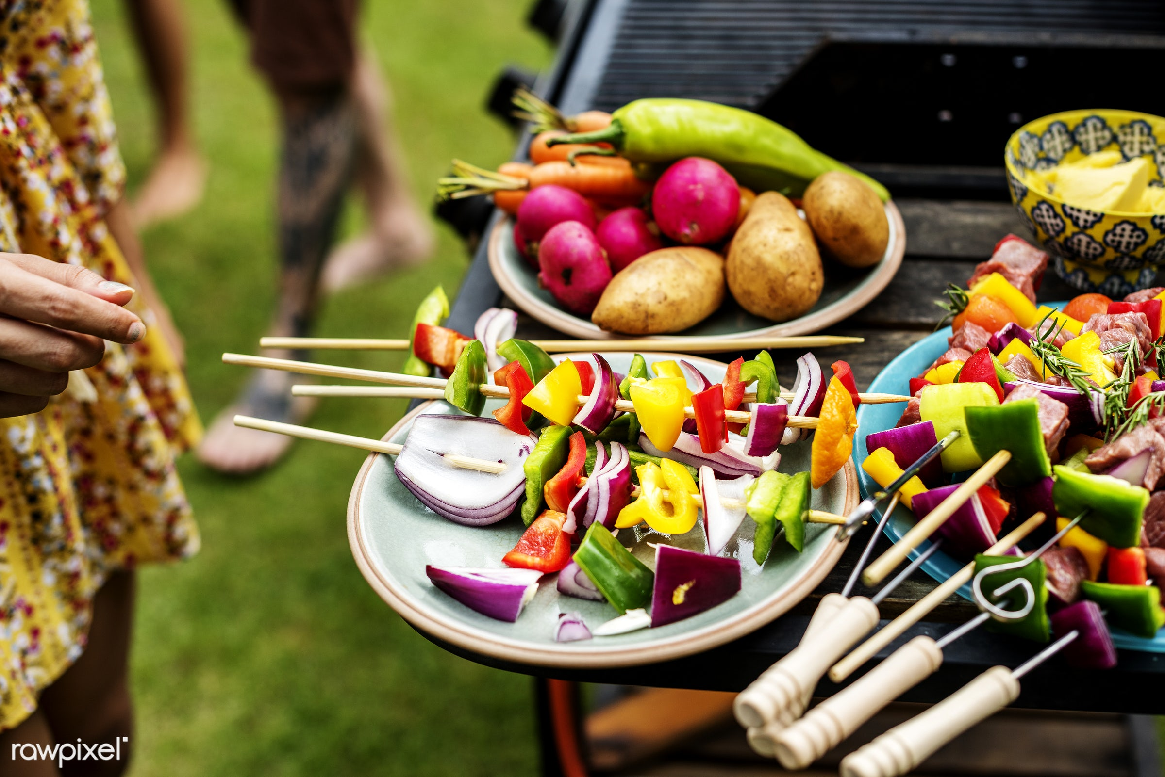 bbq, barbecue, charcoals, cooking, diverse, food, fresh, grass, grill, hand, holiday, homemade, leisure, meal, meats,...