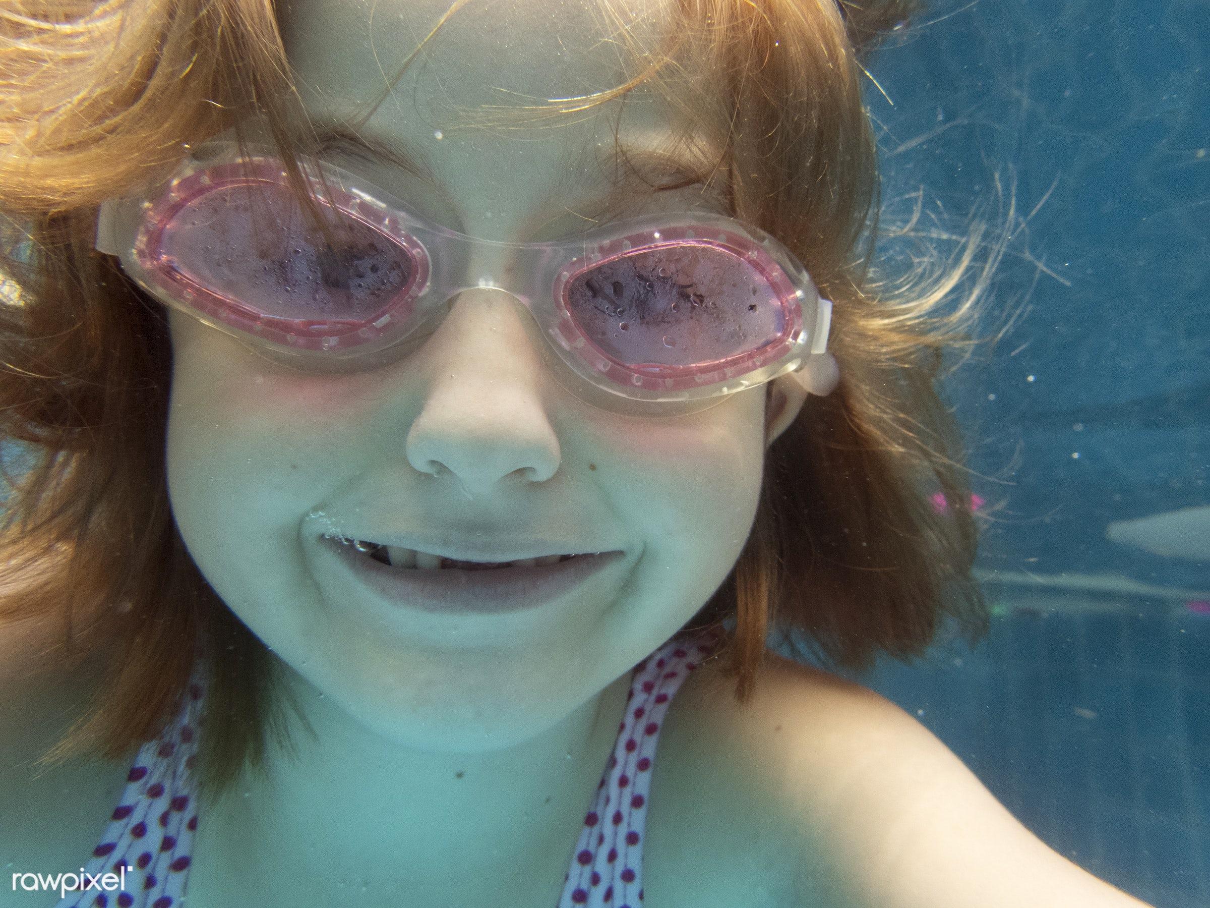 active, casual, cheerful, child, childhood, children, diving, enjoying, enjoyment, fun, girl, goggles, happiness, happy, joy...