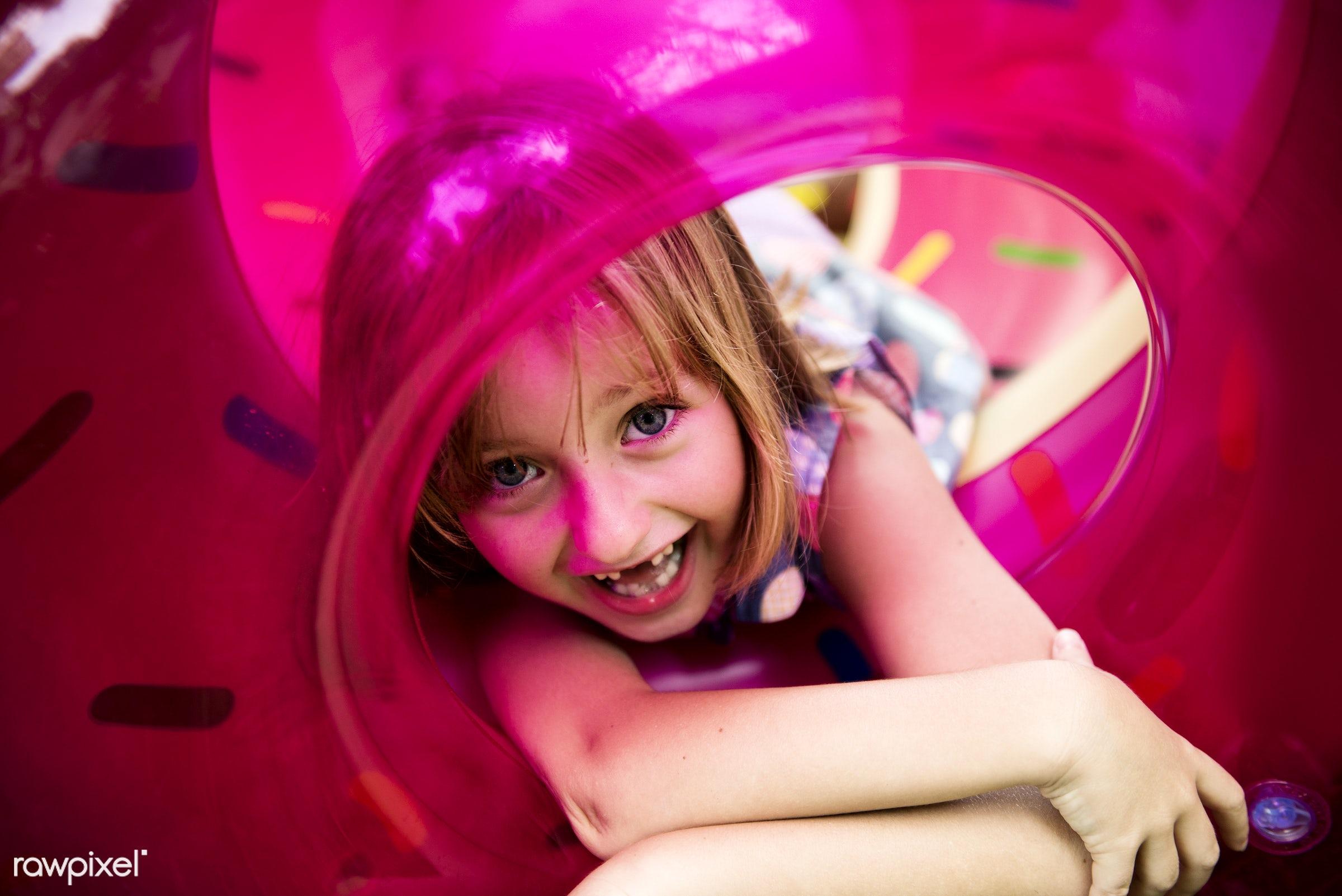 aerial view, alone, boy, caucasian, cheerful, child, enjoy, enjoying, enjoyment, flamingo, floating, fun, happiness,...