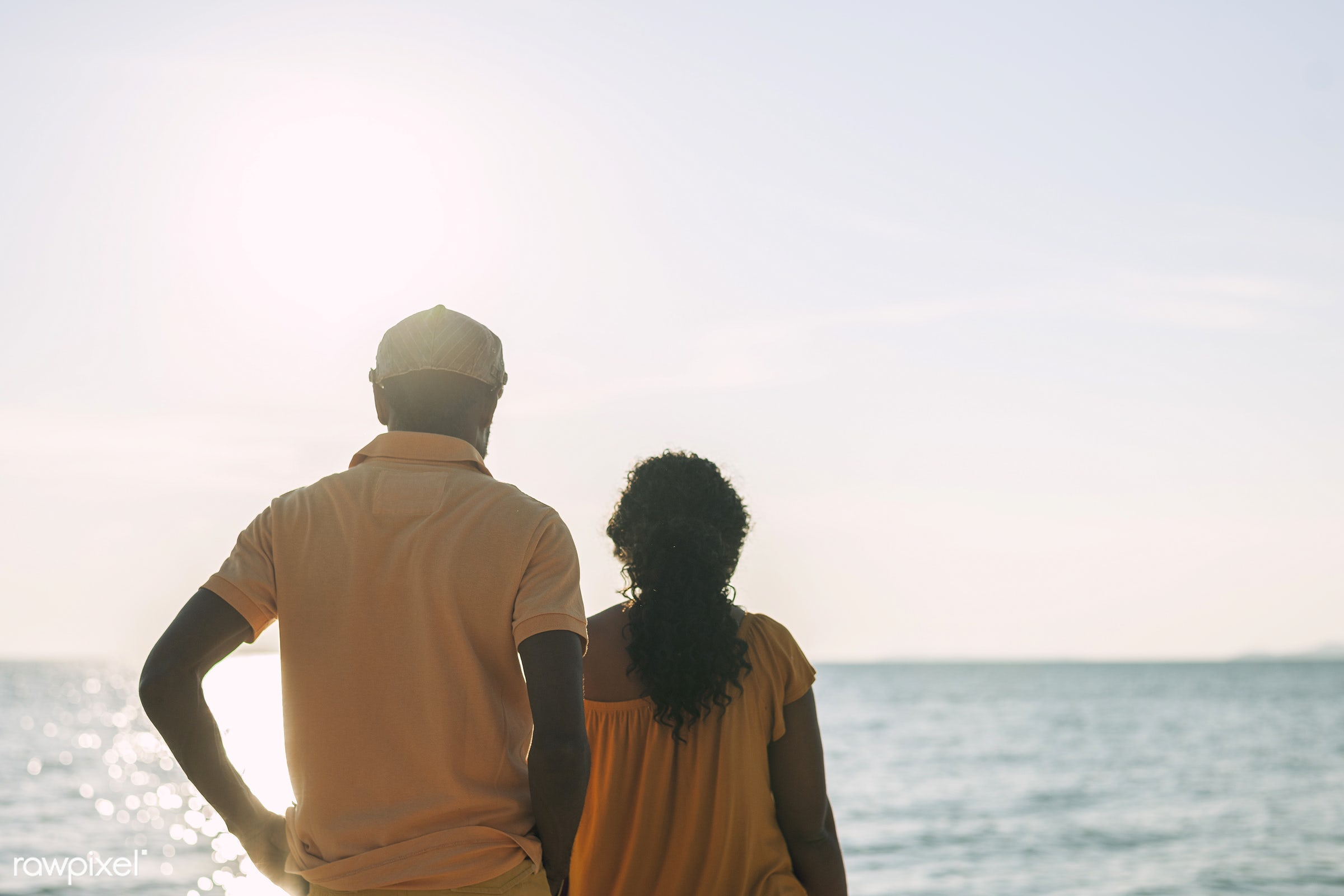 adult, african descent, back view, casual, cheerful, couple, elderly, enjoying, leisure, older, outdoors, pensioner, people...