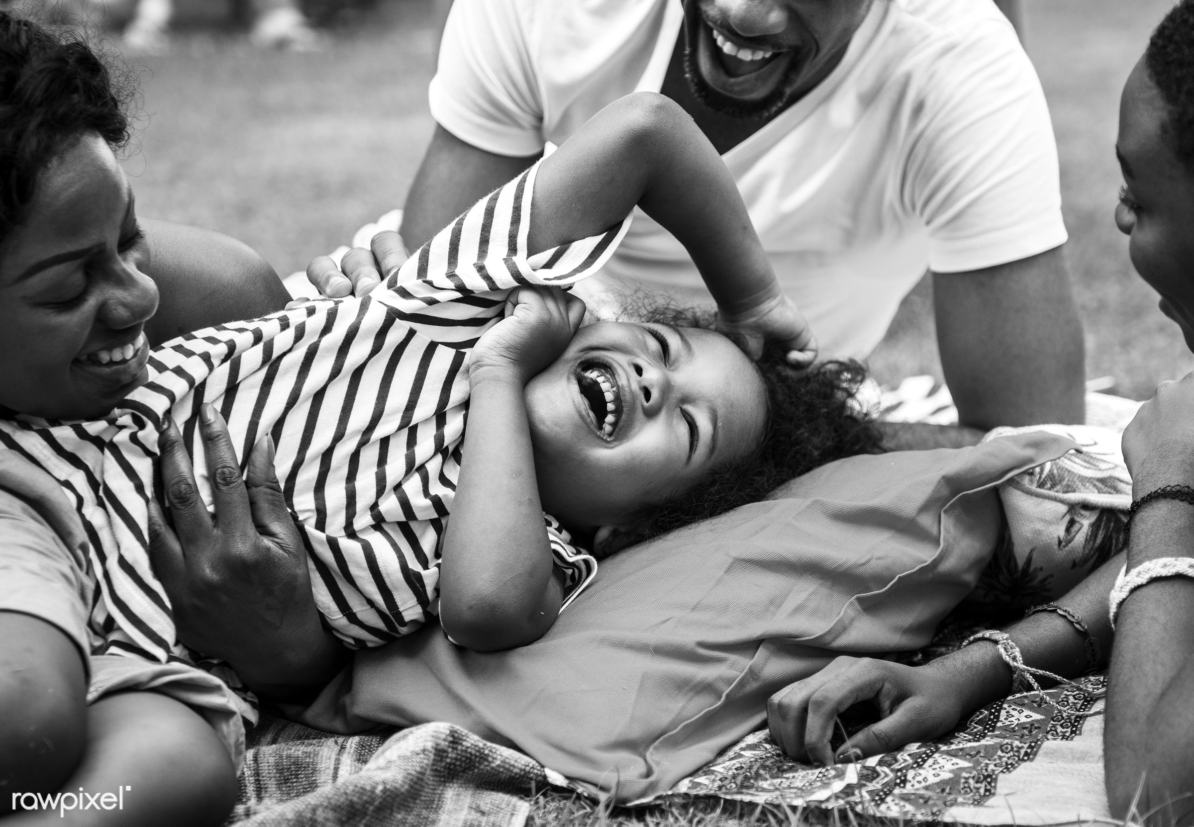 african descent, backyard, black, cheerful, child, closeup, dad, daughters, enjoying, family, father, fun, grayscale,...