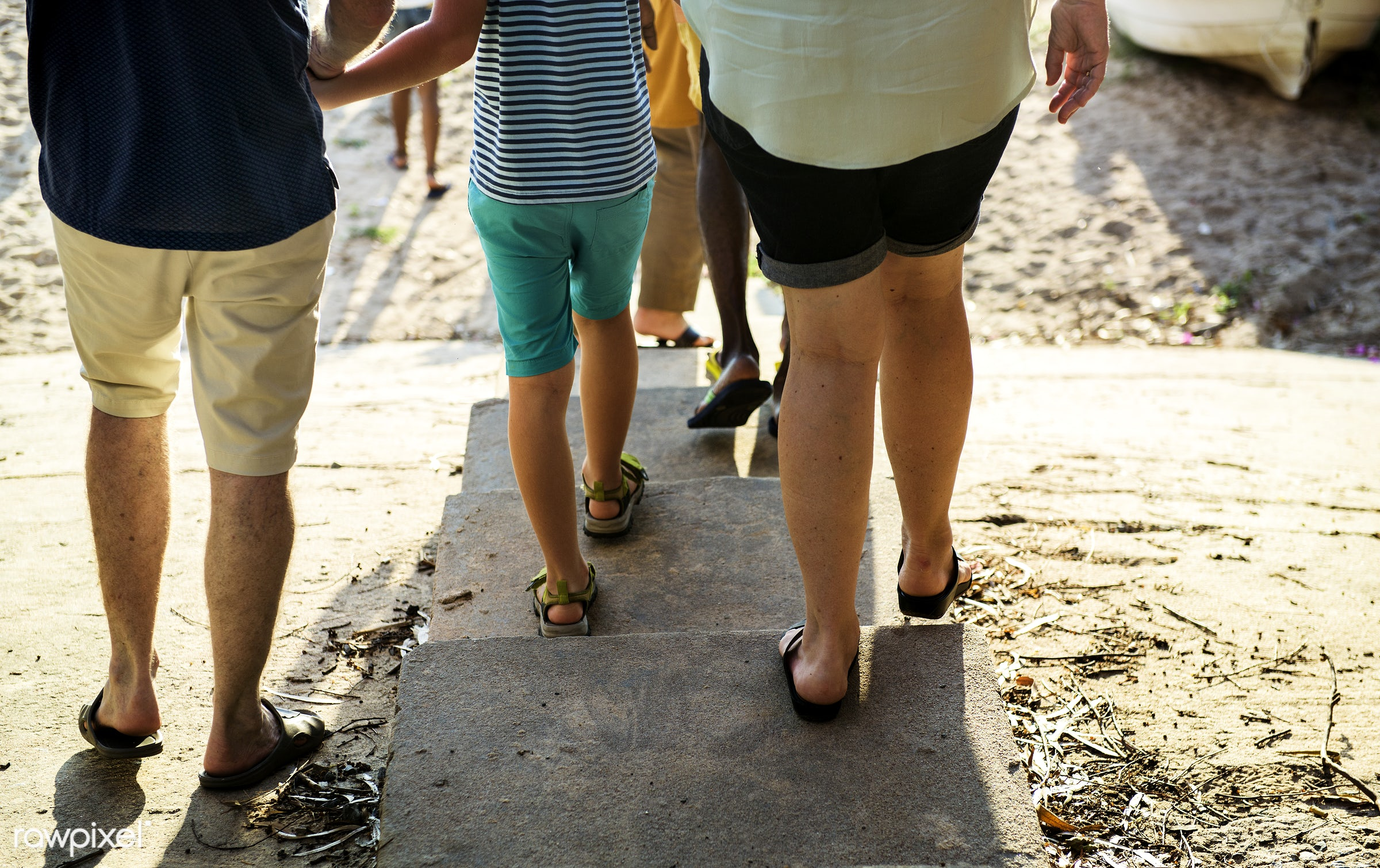 relax, beach, coast, together, caucasian, family, cheerful, closeup, rear view, sand, enjoying, sea, parent, happiness,...