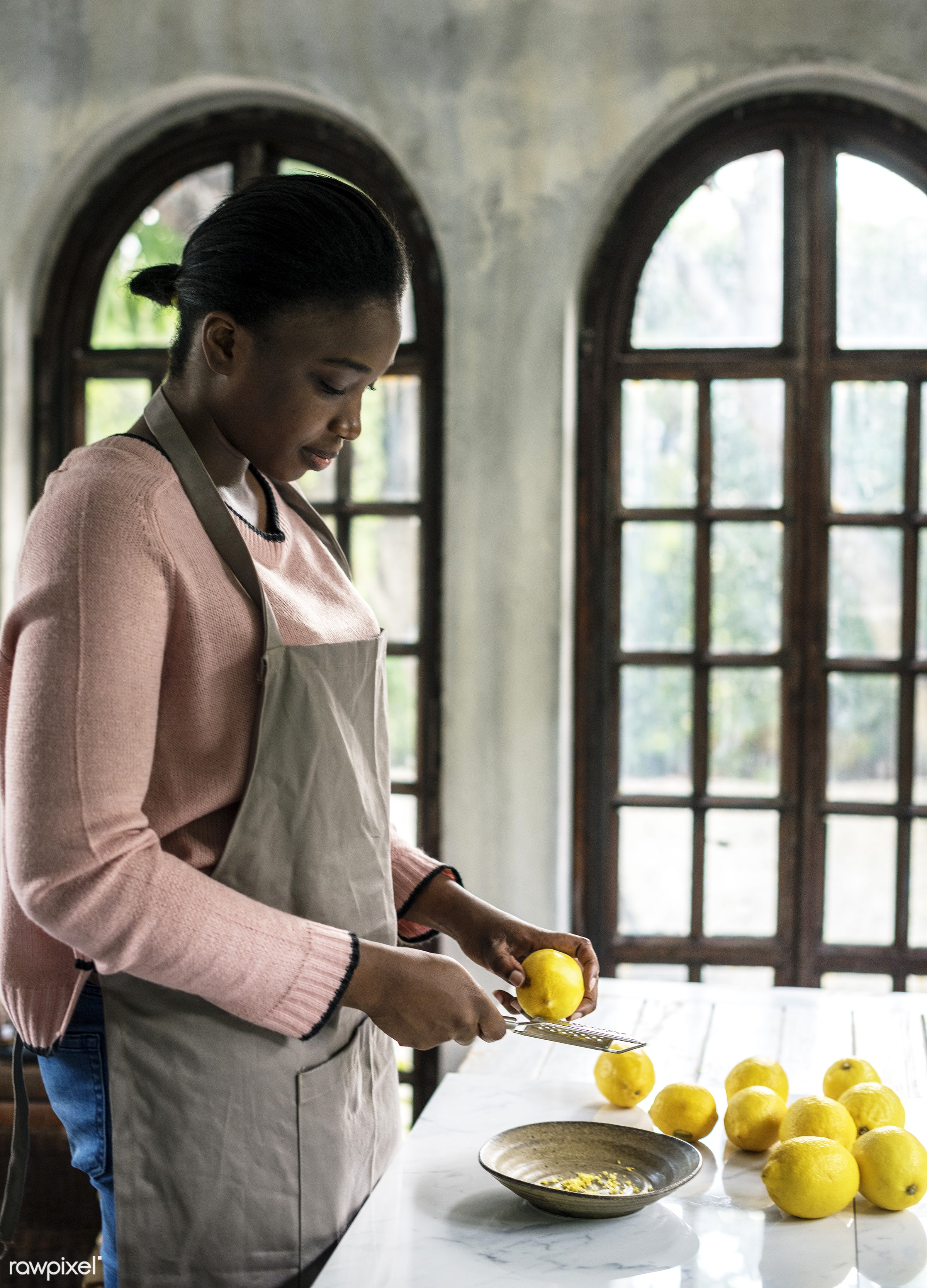 raw, lemons, herbs, skin, farm, ingredients, nature, fresh, woman, grater, various, products, african descent, agriculture,...