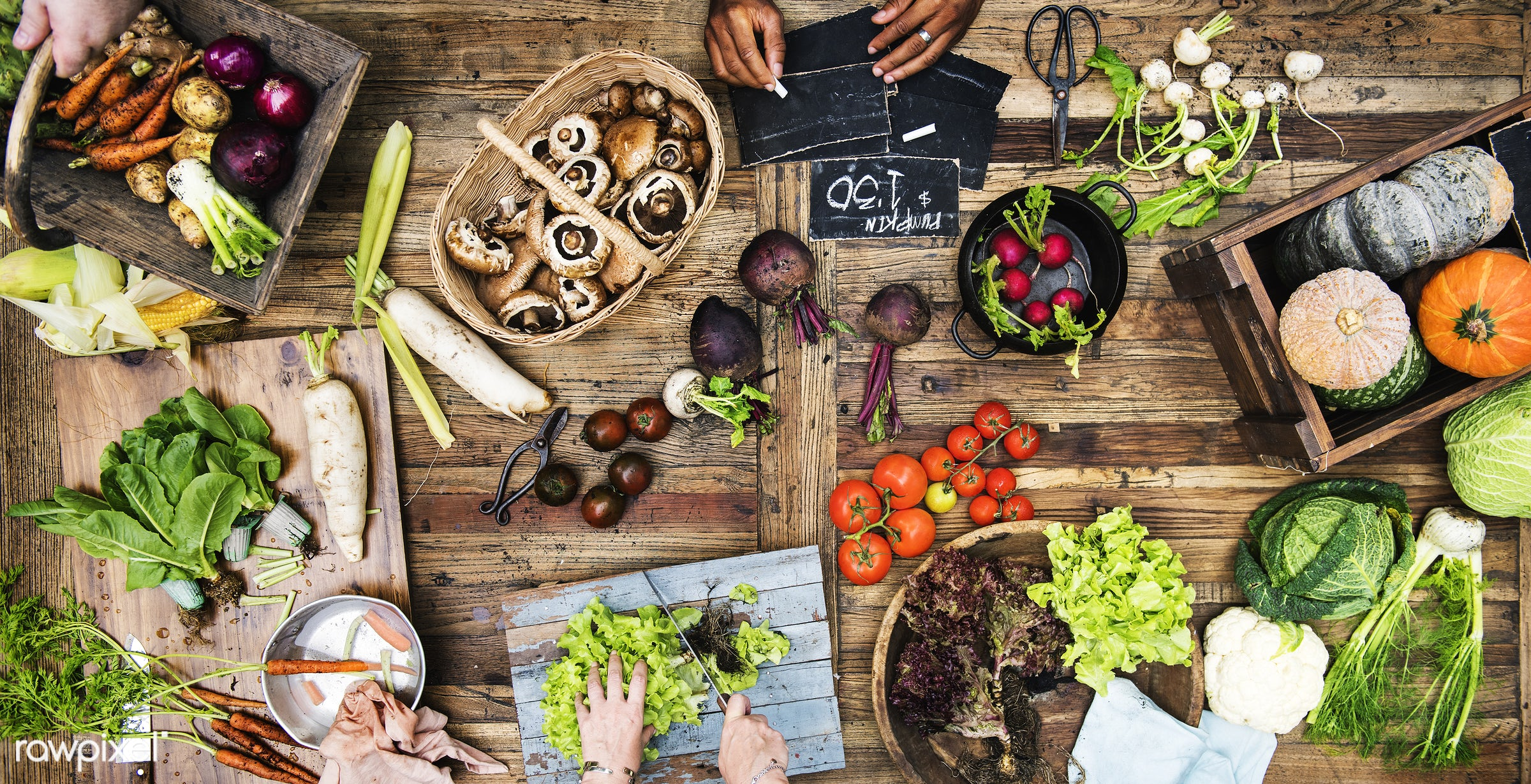 raw, diverse, herbs, ingredients, farm, nature, farmer, fresh, hands, aerial view, products, agriculture, variety, organic,...