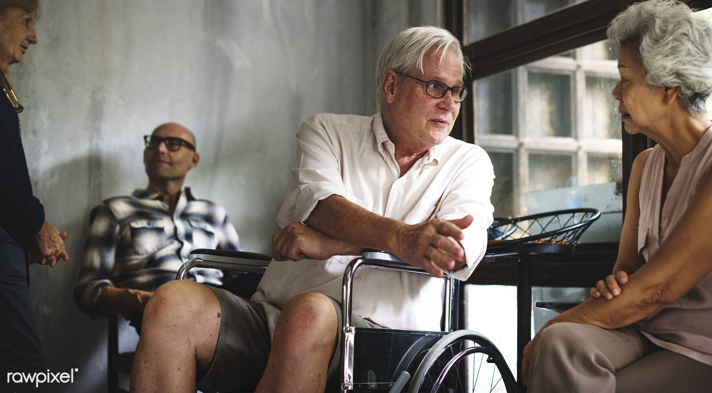 old, people, together, sharing, friends, hands, wheelchair, spouse, disability, couple, disable, closeup, handicapped,...