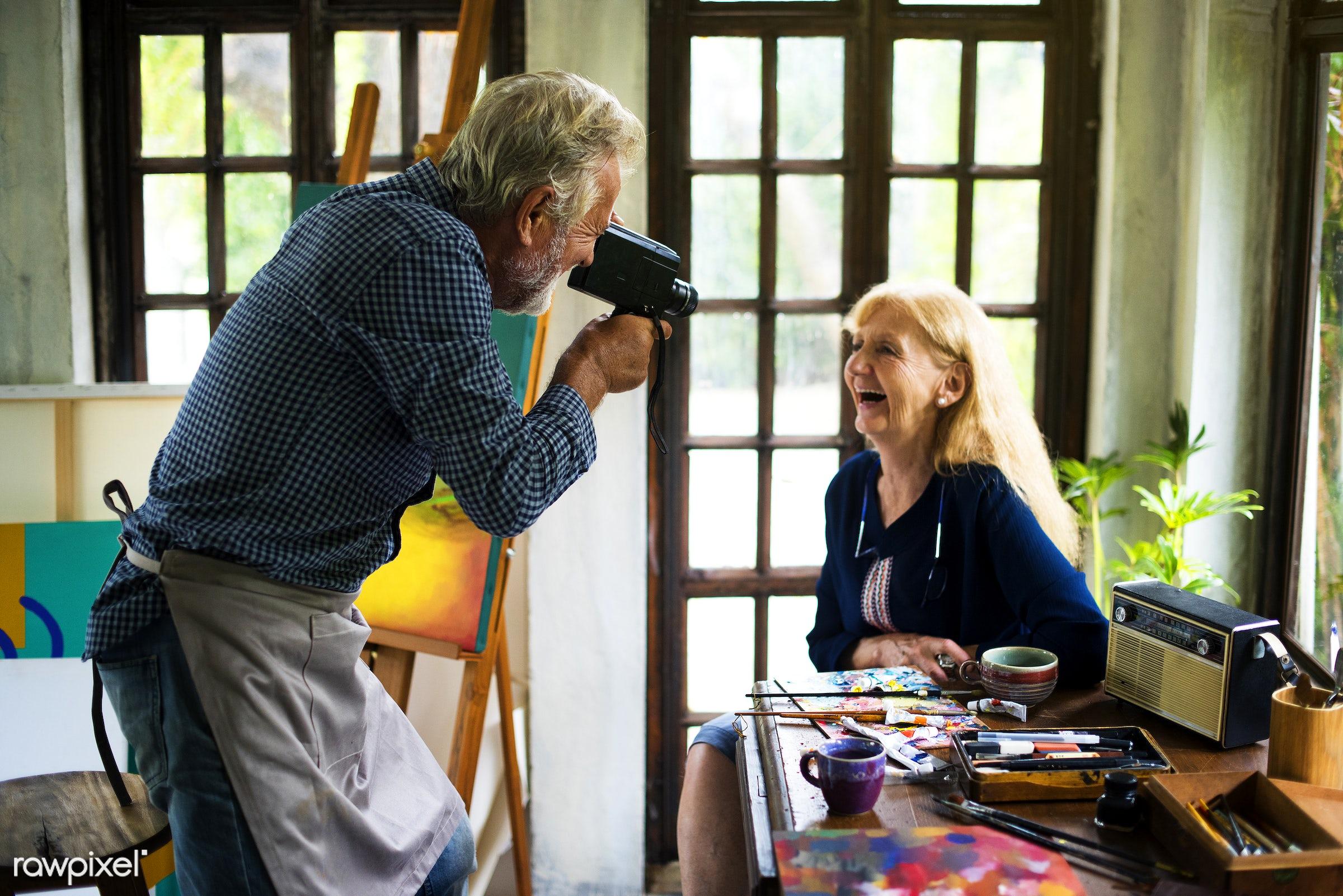 colorful, workspace, palette, recreation, hands, couple, artist, painter, closeup, work, creative, art, camera, hobby,...