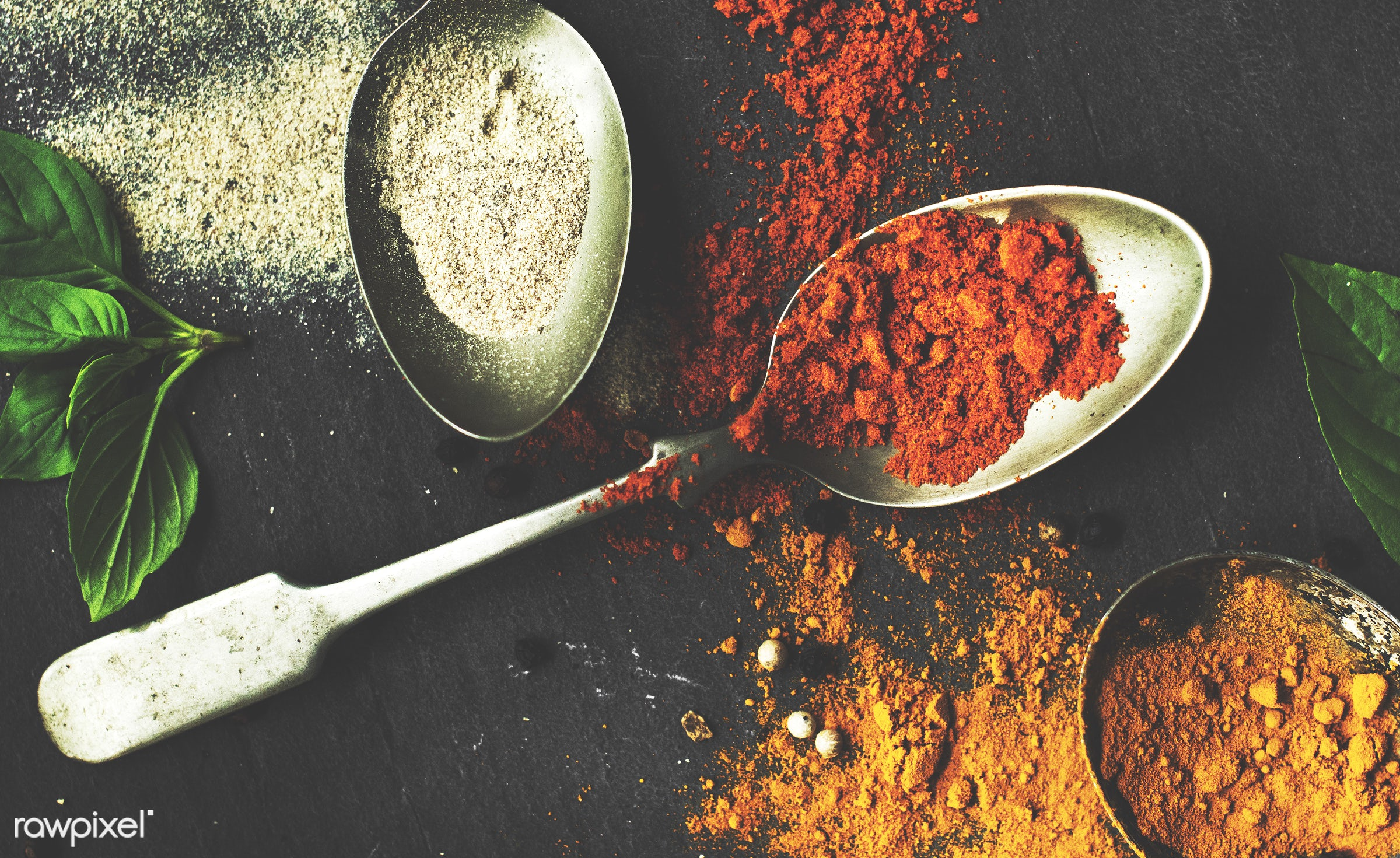Cooking spices seasoning ingredients - chili pepper, nobody, powder, spoon, spices, asian, ingredients, real, seasoning,...