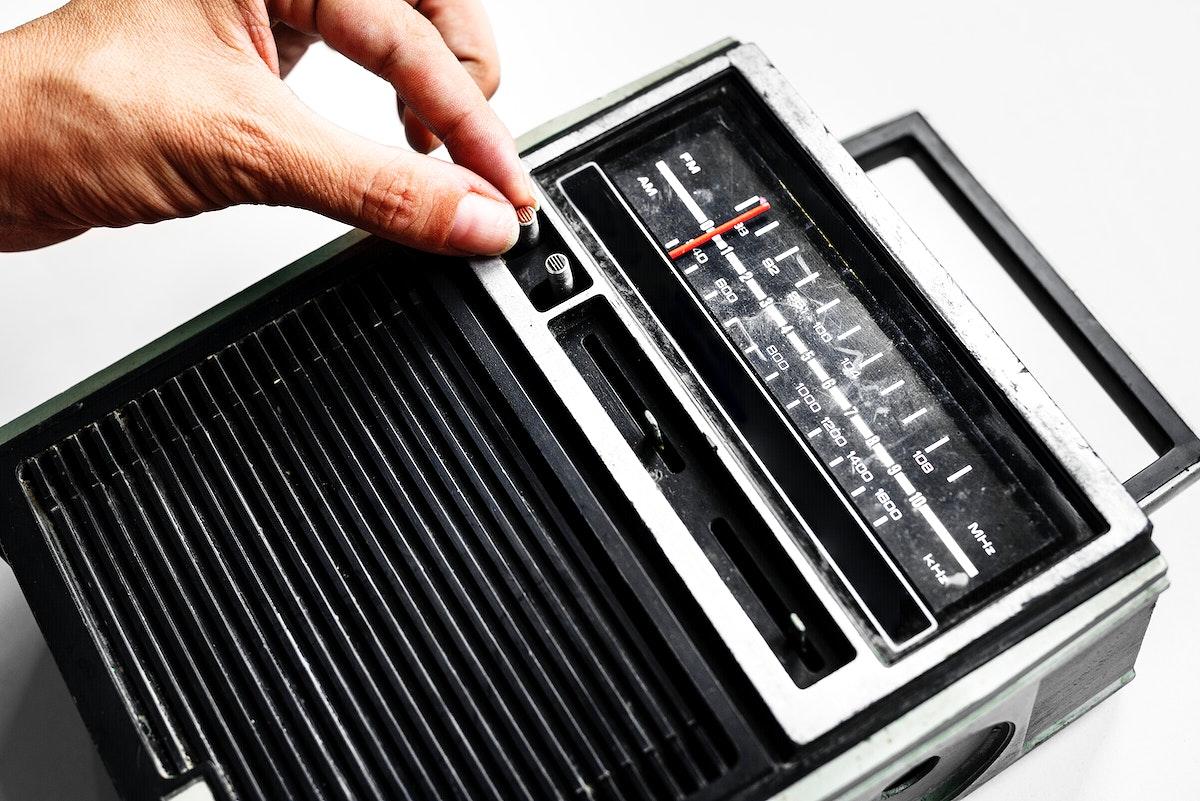 CloTuning classic retro radio transistor isolated on white