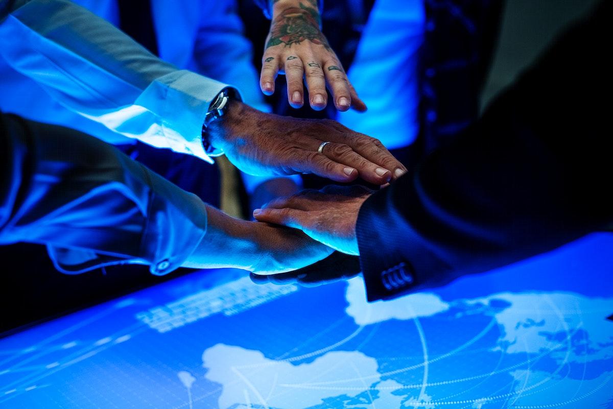 Global business teamwork