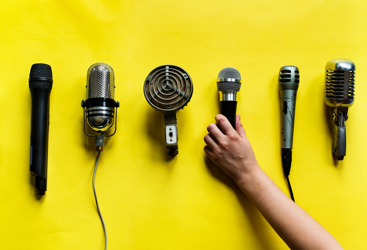 Various style of microphones