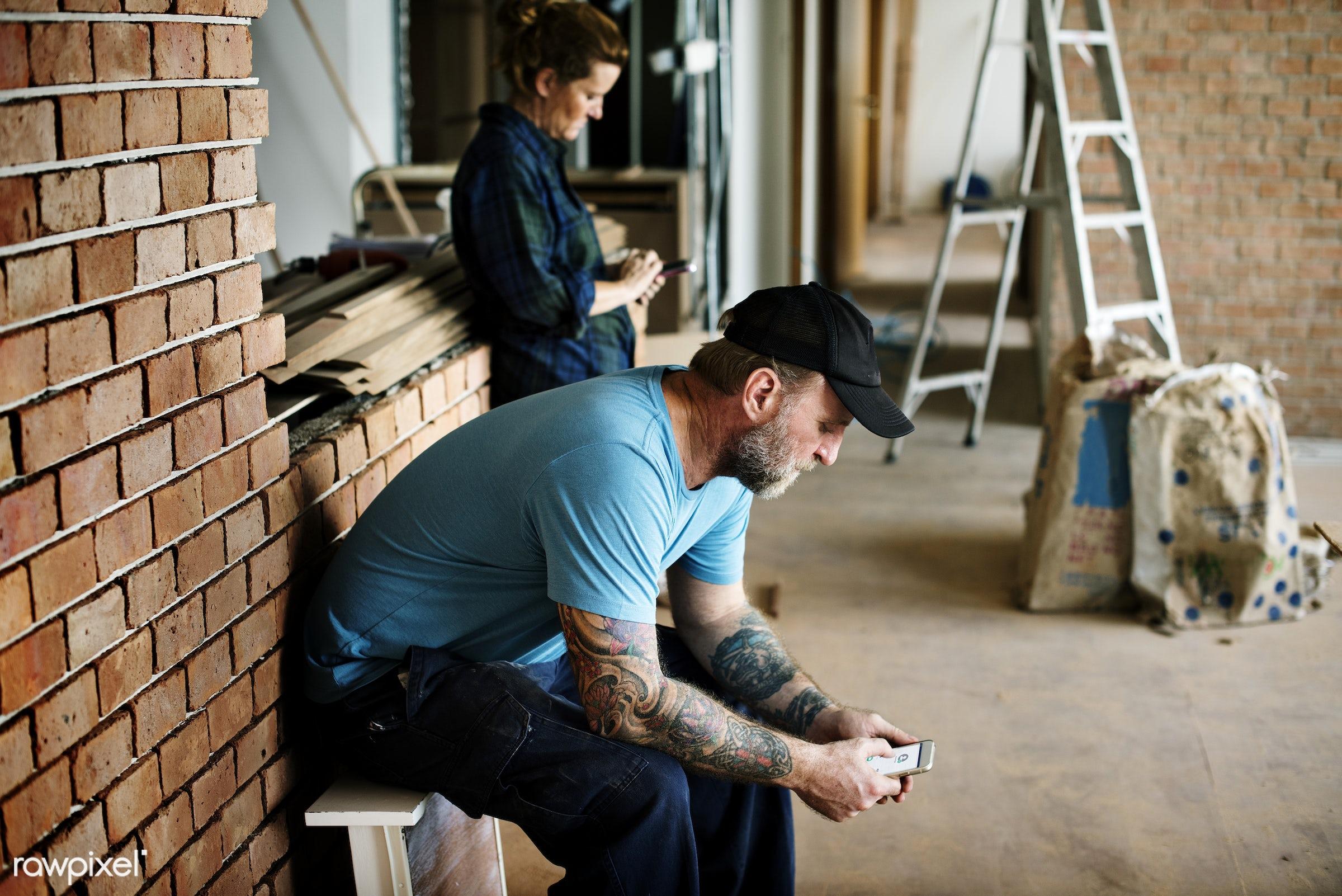 craftman, architect, builder, construction, american, break, brick, british, cap, caucasian, contractor, equipment, european...