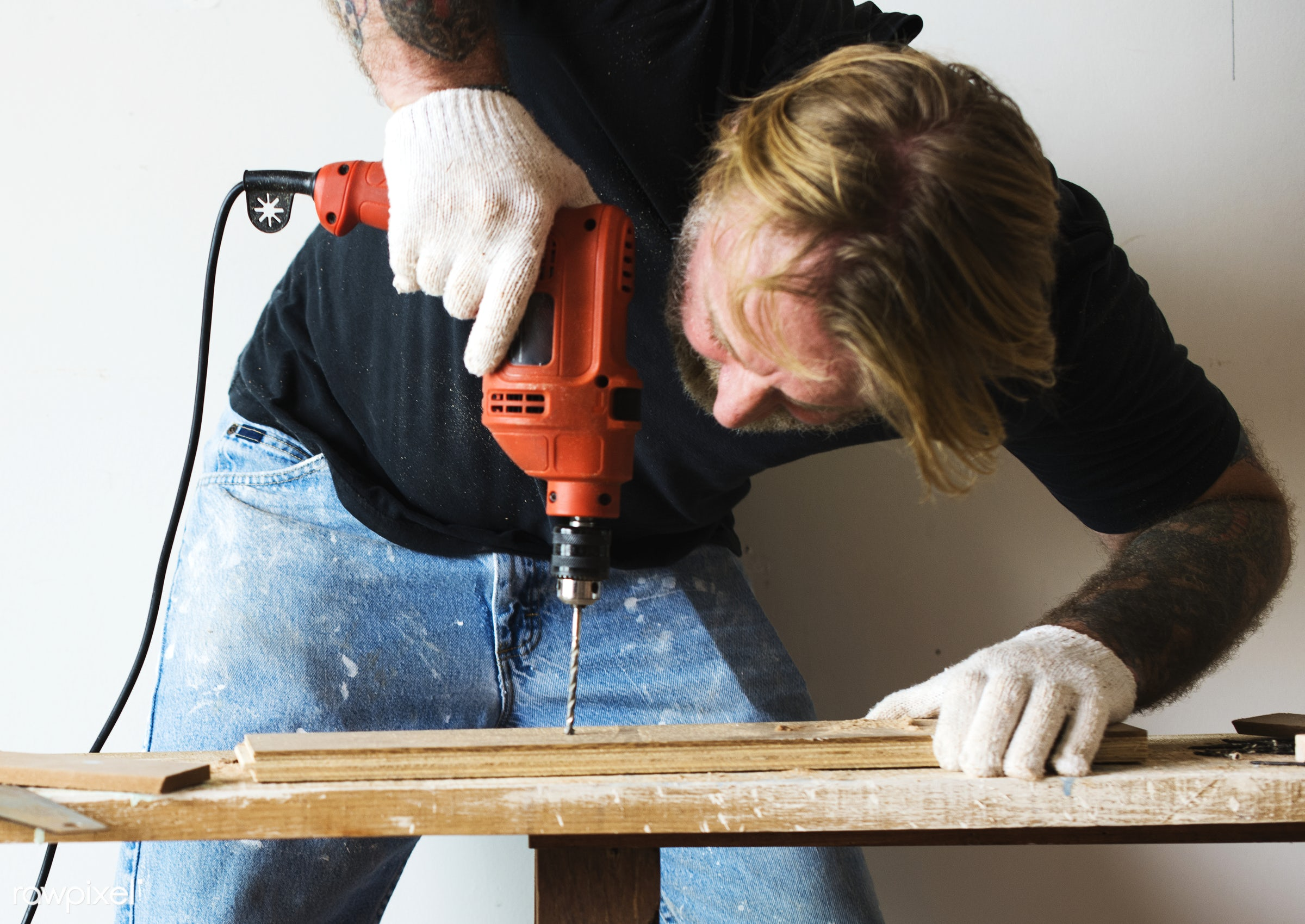 craft, wood, carpentry, tool, plank, equipment, diy, carpenter, handyman, craftsman, worker, drill, repair, tattoo, industry...