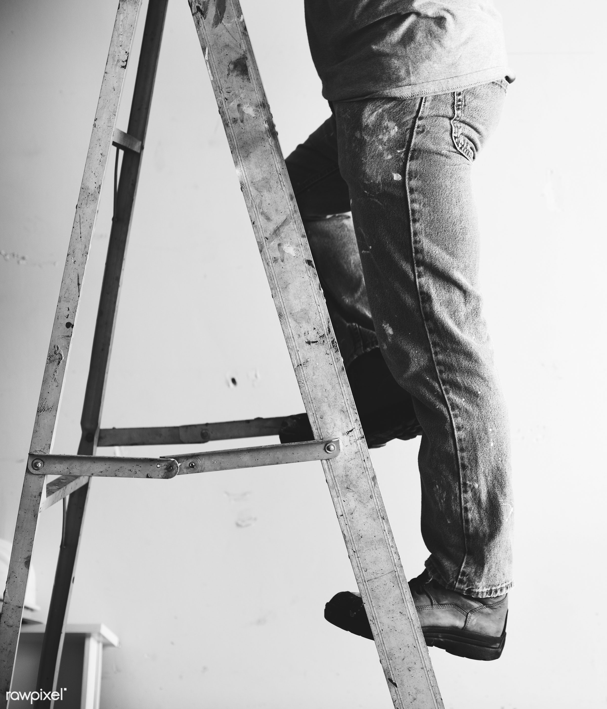 ladder, renovating, builder, equipment, build, tools, materials, craftsman, handyman, worker, laborer, repair, workman,...