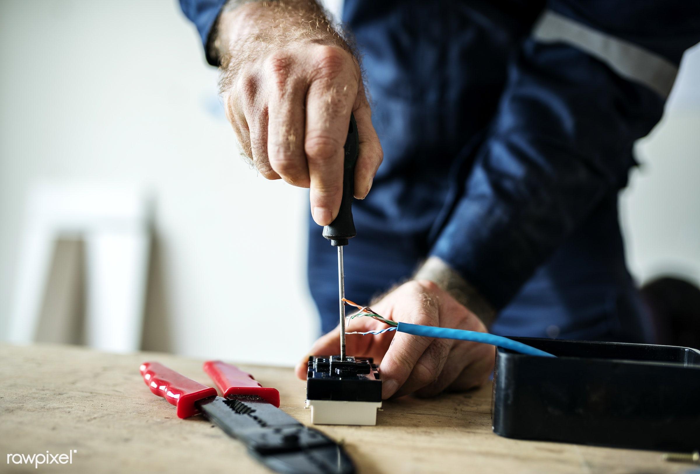 electrician, installation, activity, builder, candid, construction, contractor, craft, craftsman, design, development, diy,...