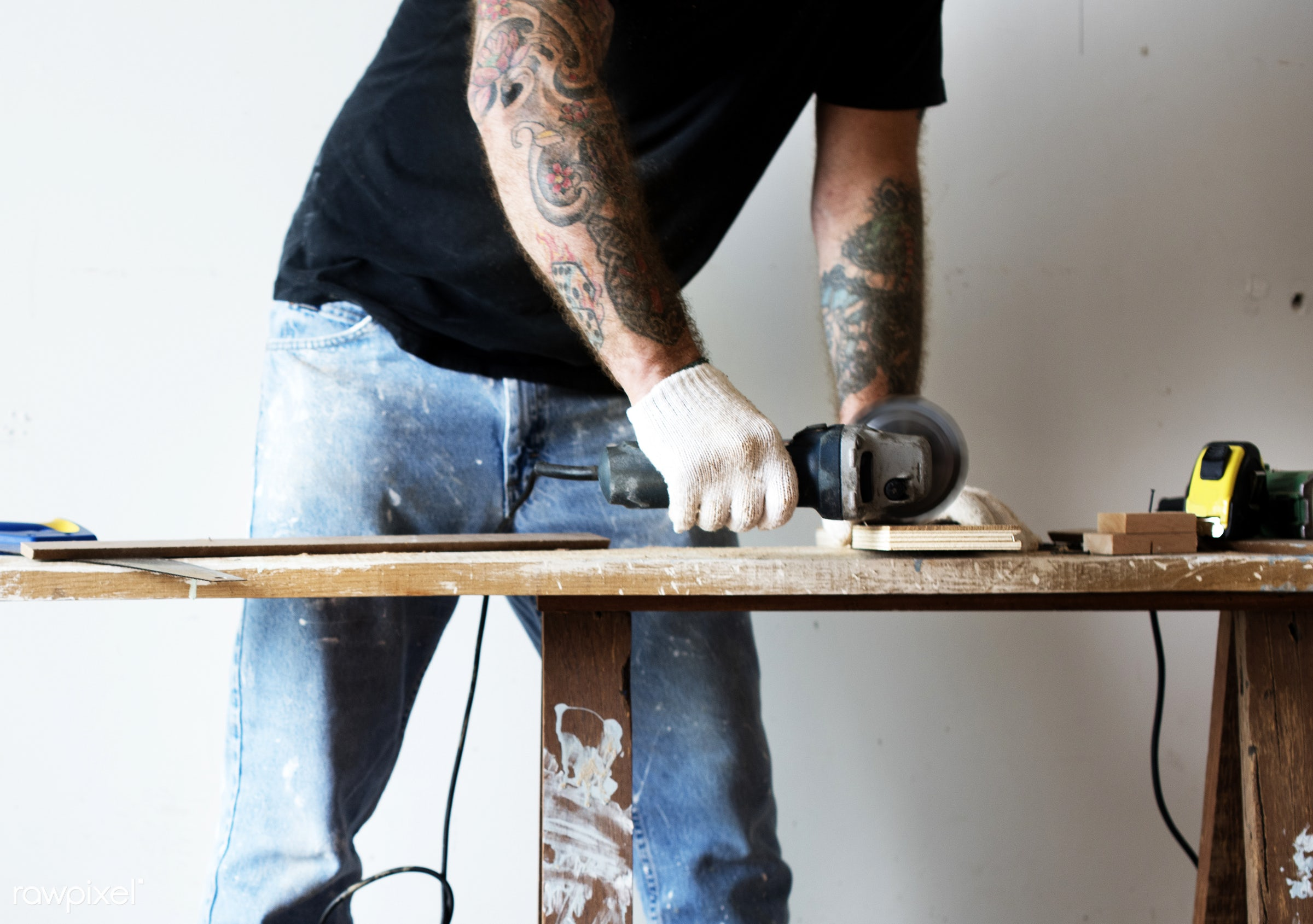 craft, wood, carpentry, tool, plank, equipment, diy, carpenter, craftsman, handyman, worker, repair, tattoo, industry,...