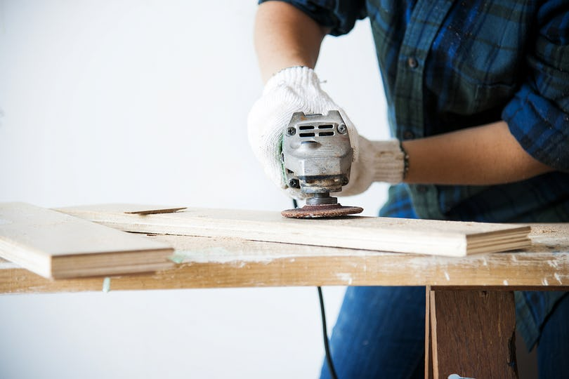 Carpenter working on a wood