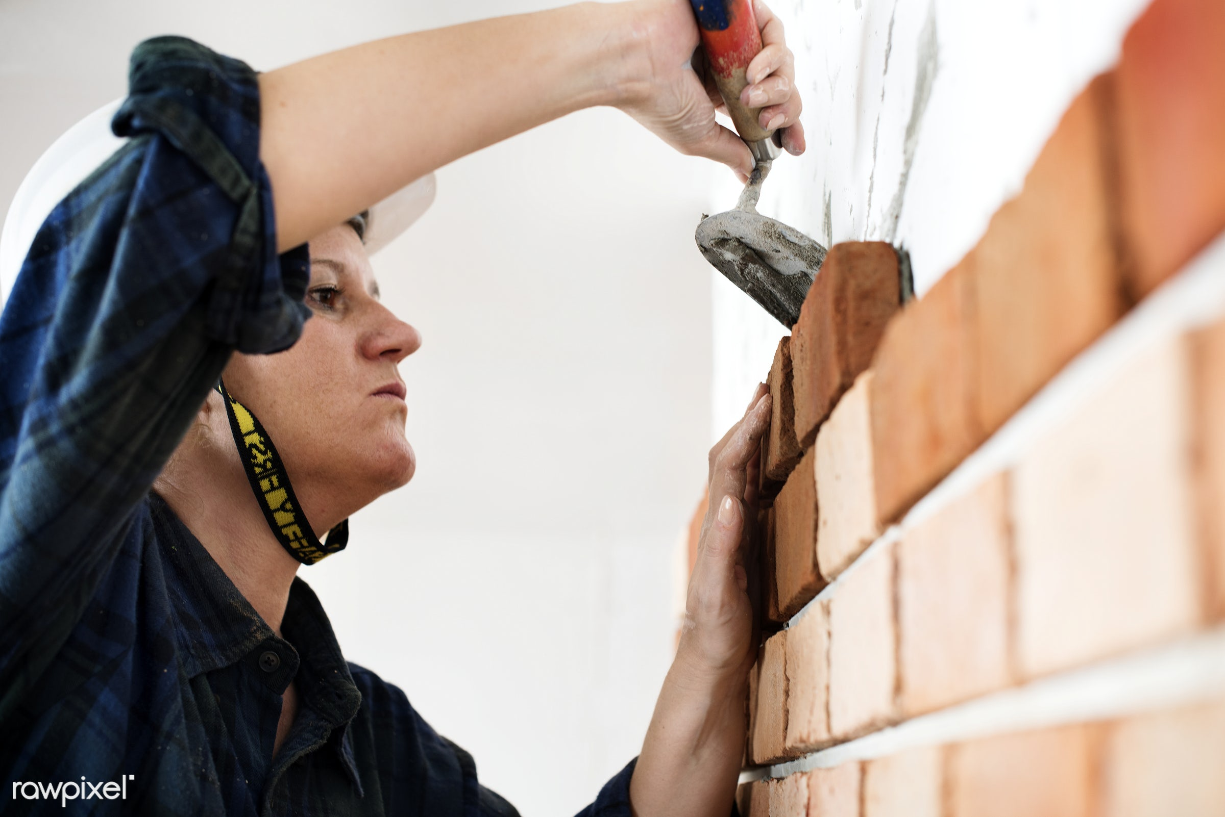 construction, woman, work, repair, professional, brick, helmet, concrete, worker, structure, french, american, british,...