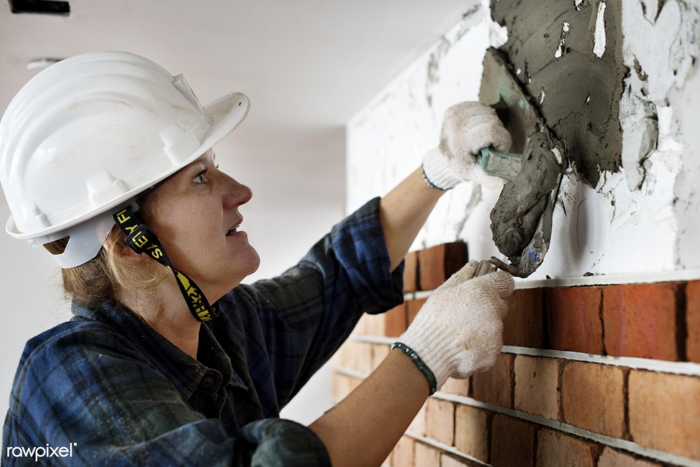 mason, american, brick, british, caucasian, cement, concrete, construction, equipment, european, french, grout, helmet,...