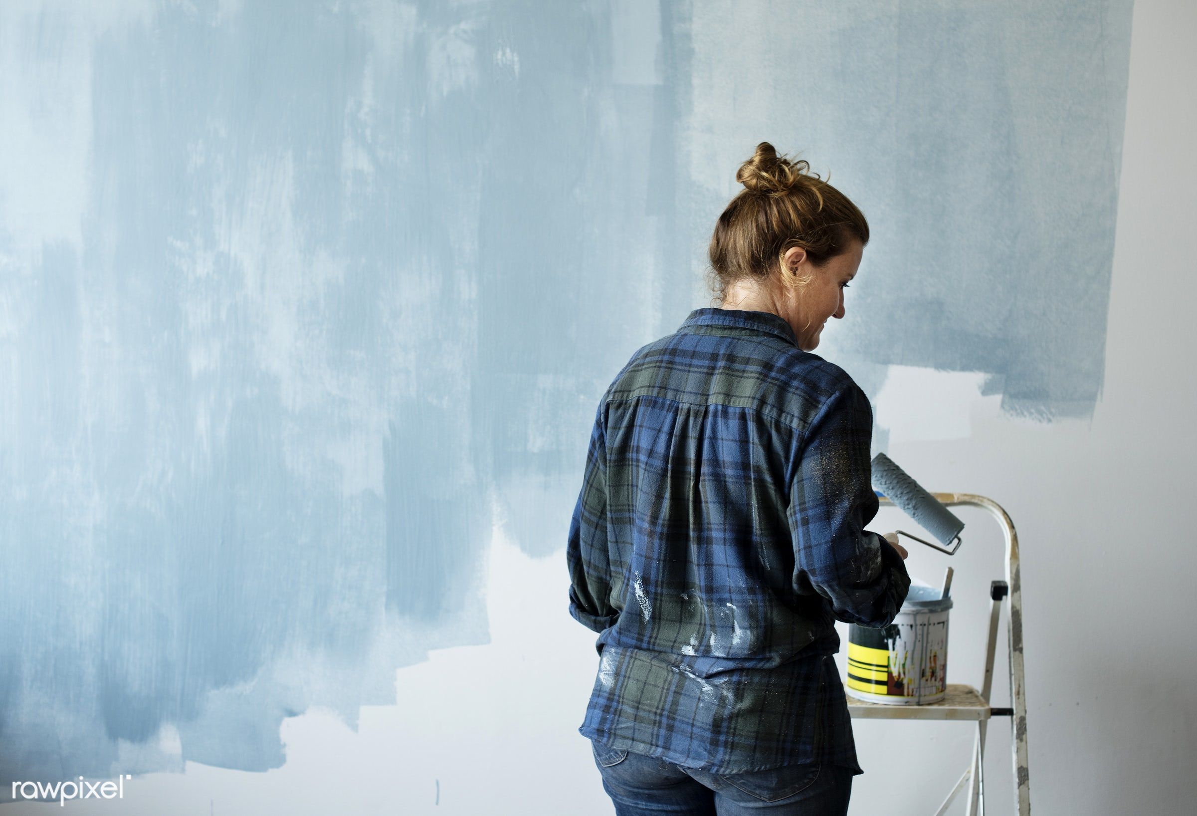 interior, home, indoor, tool, house, space, diy, roller, decor, woman, colored, painter, decorating, renovation, decoration...