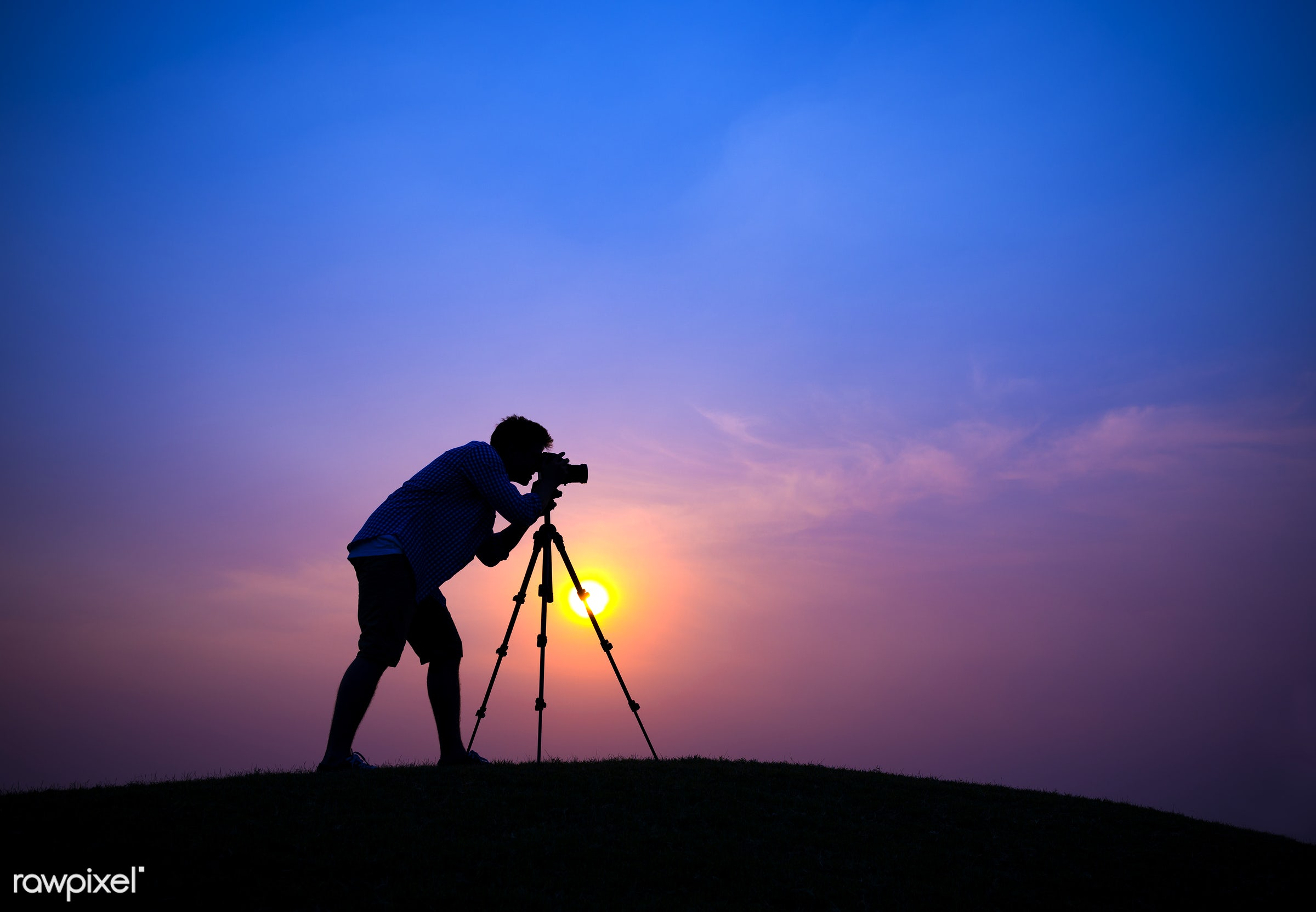 hill, sun, action, aspirations, beauty in nature, camera, cameraman, concepts and ideas, dawn, dusk, environment, evening,...