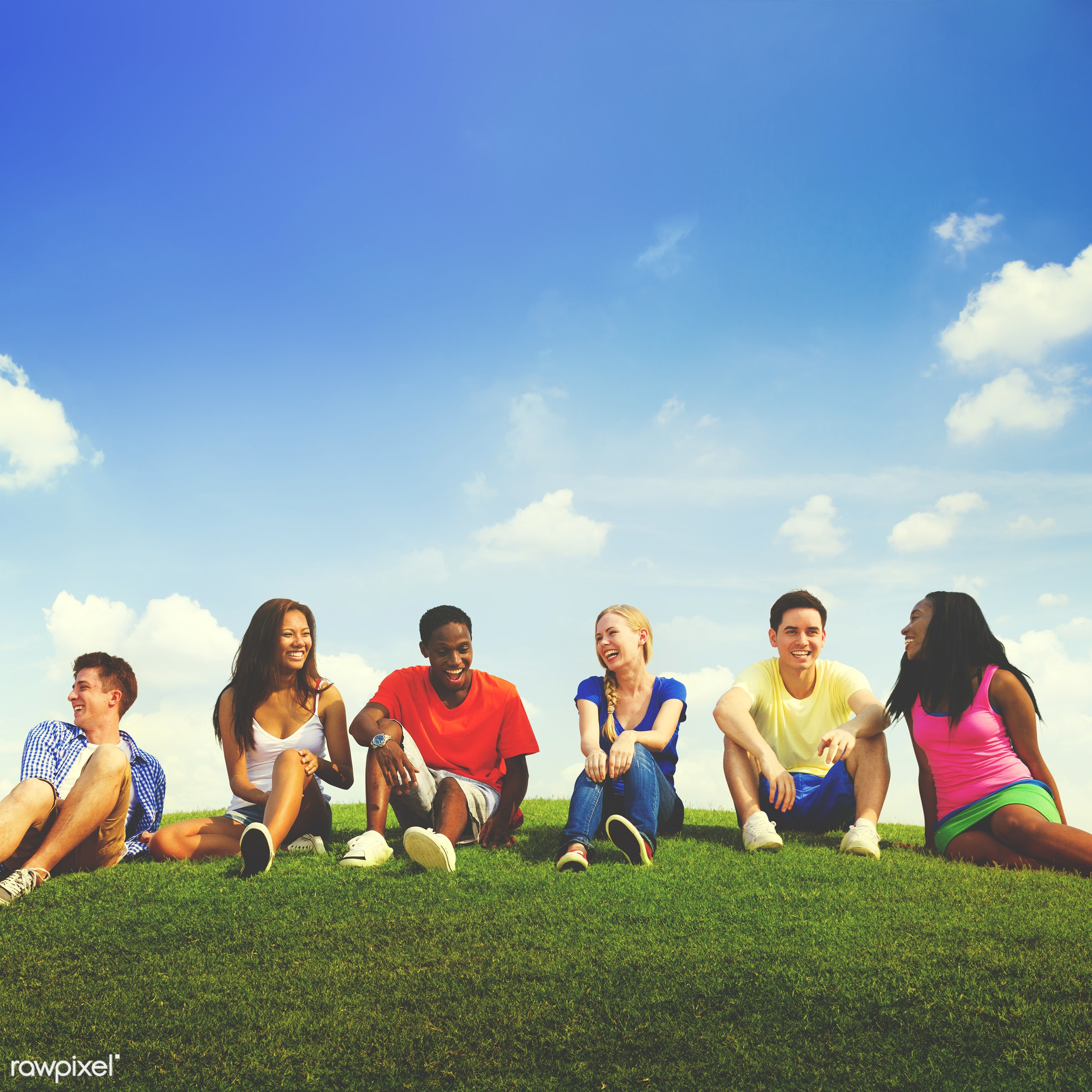teenager only, blue sky, casual, cheerful, cloud, college student, comfortable, communication, community, confident, connect...