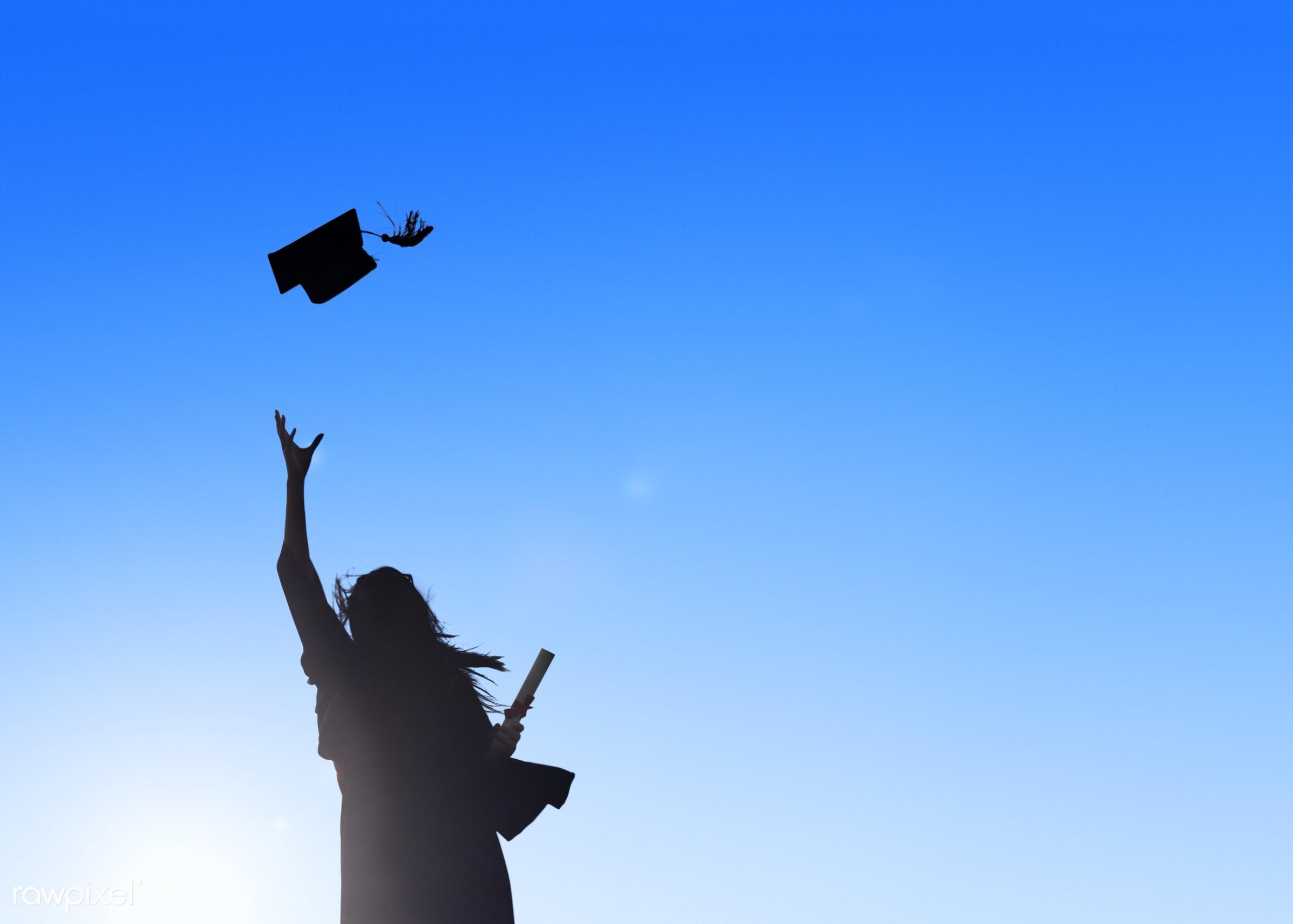 hat, academic, achievement, blank, campus, cap, celebration, ceremony, certificate, cheerful, college, college student,...