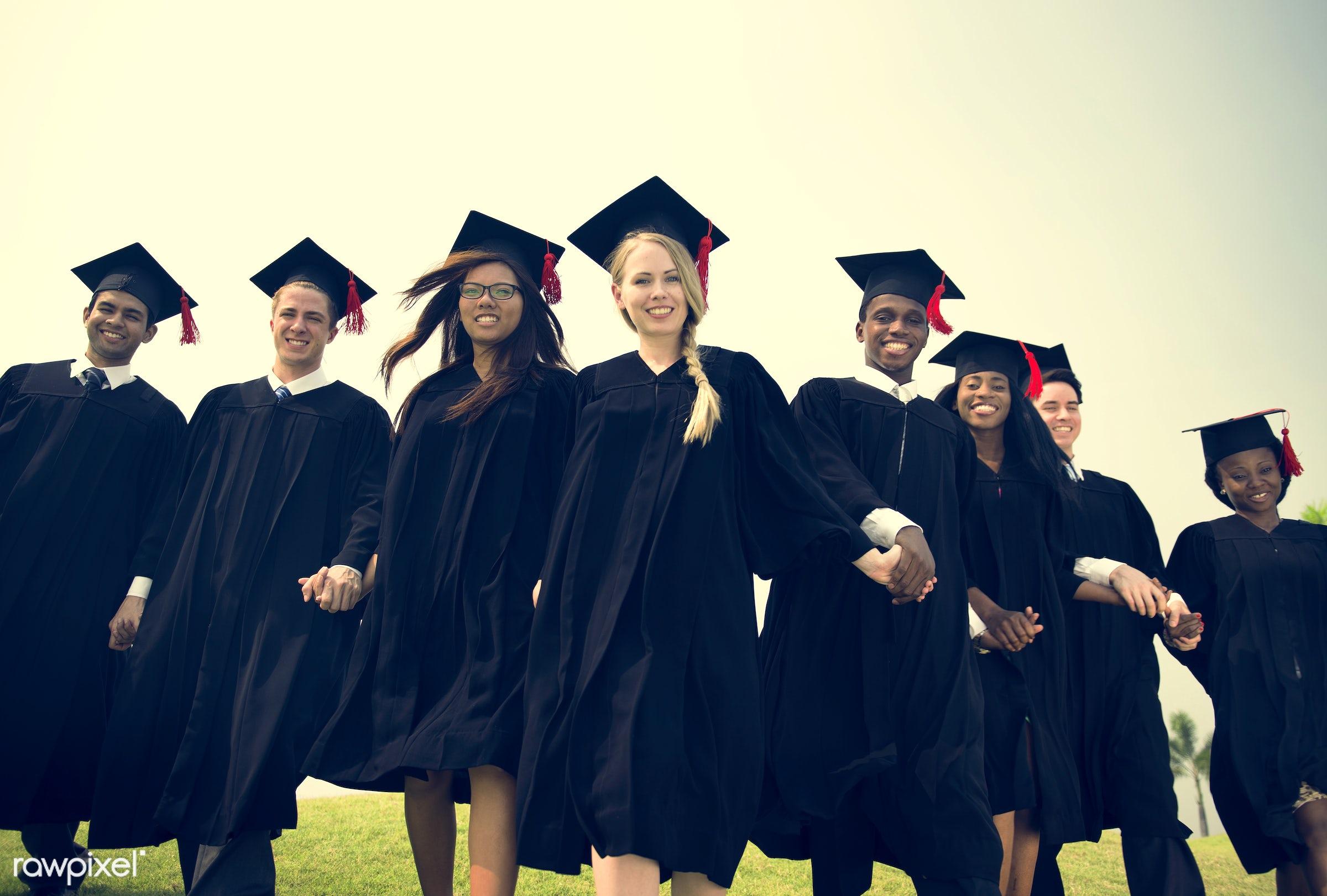 achievement, african, alumni, asian, best friends, caucasian, celebrate, celebration, cheerful, classmates, college, degree...