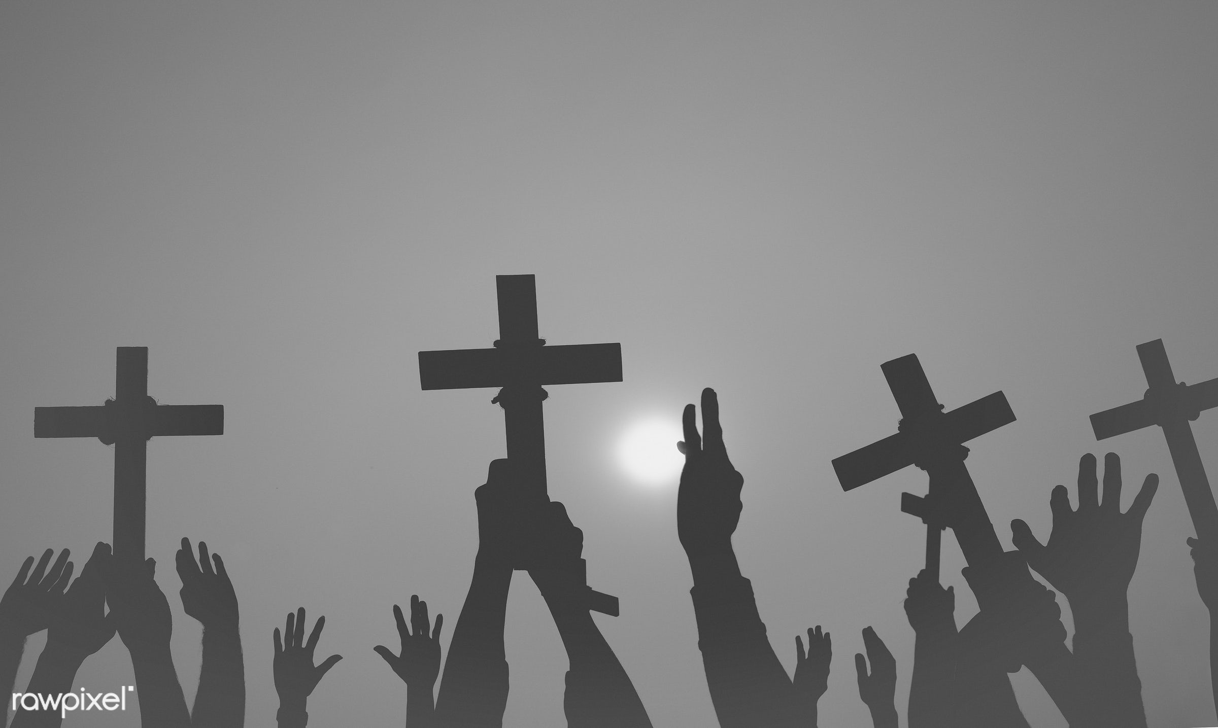 death, arm raised, aspiration, bowing, catholicism, cemetery, christianity, concepts and ideas, connect, connection, cross,...