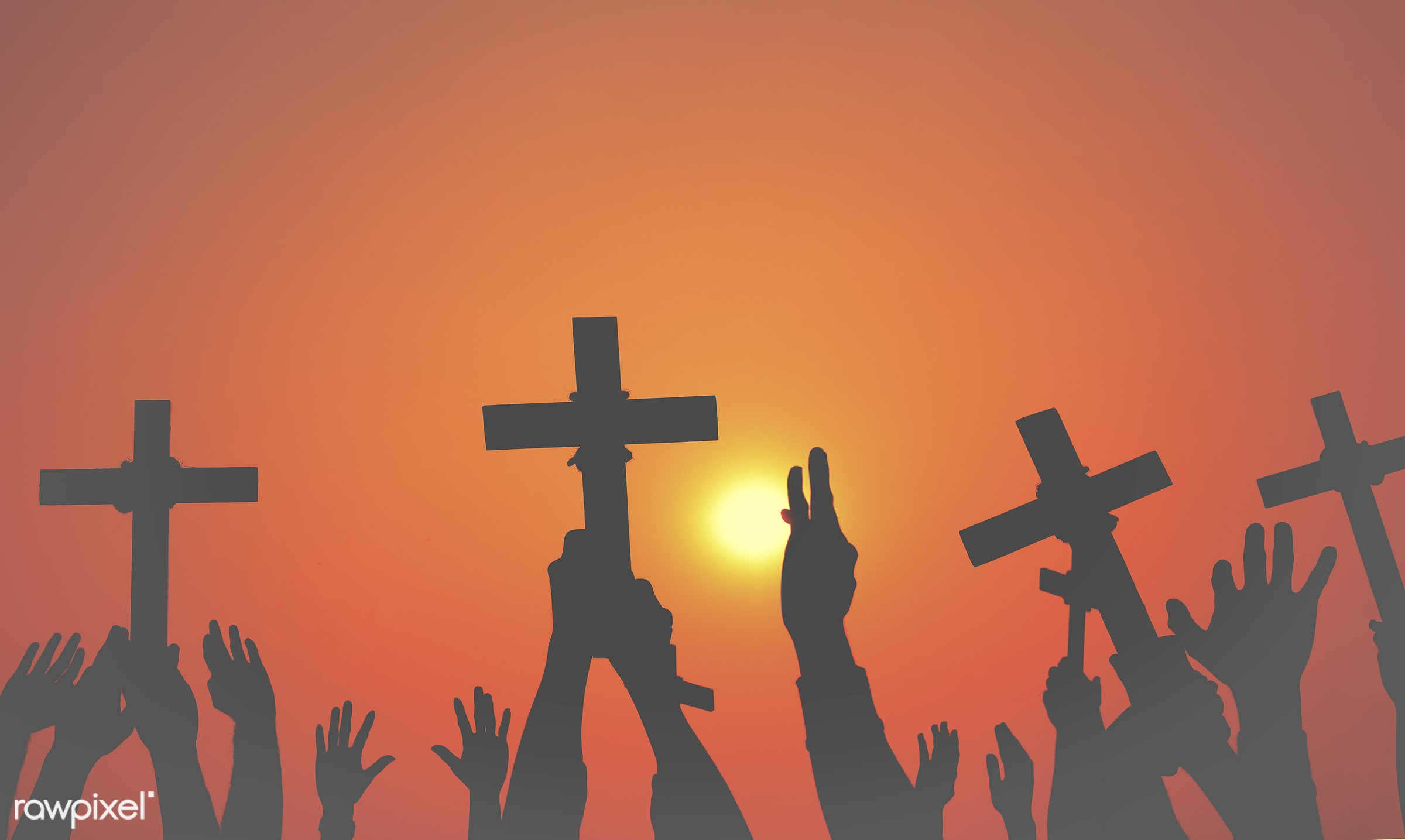 arm raised, aspiration, bowing, catholicism, cemetery, christianity, concepts and ideas, connect, connection, cross, cross...