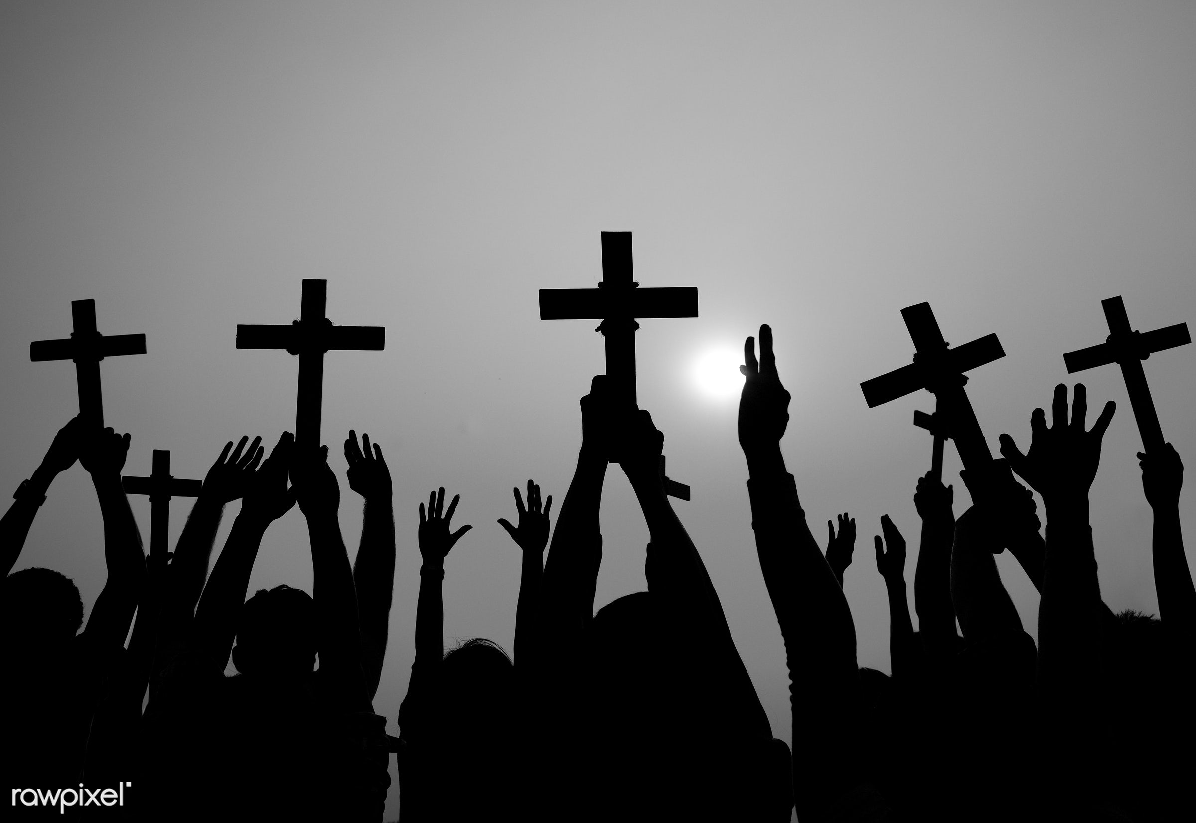 easter, holding, holidays and celebrations, arm raised, aspiration, bowing, catholicism, cemetery, christianity, concepts...