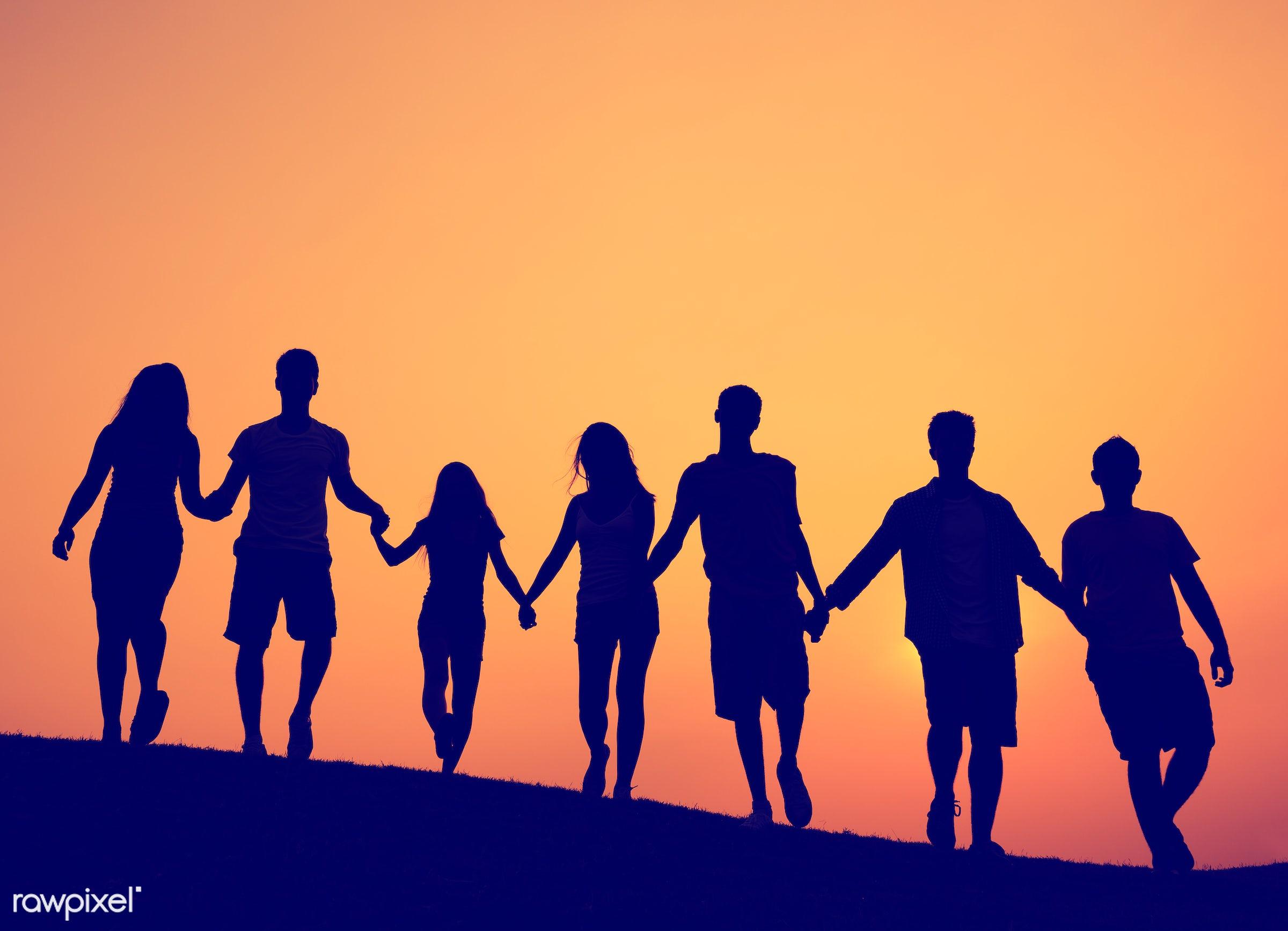 backlit, celebration, cheerful, community, confidence, cooperation, enjoyment, environment, field, friends, friendship,...