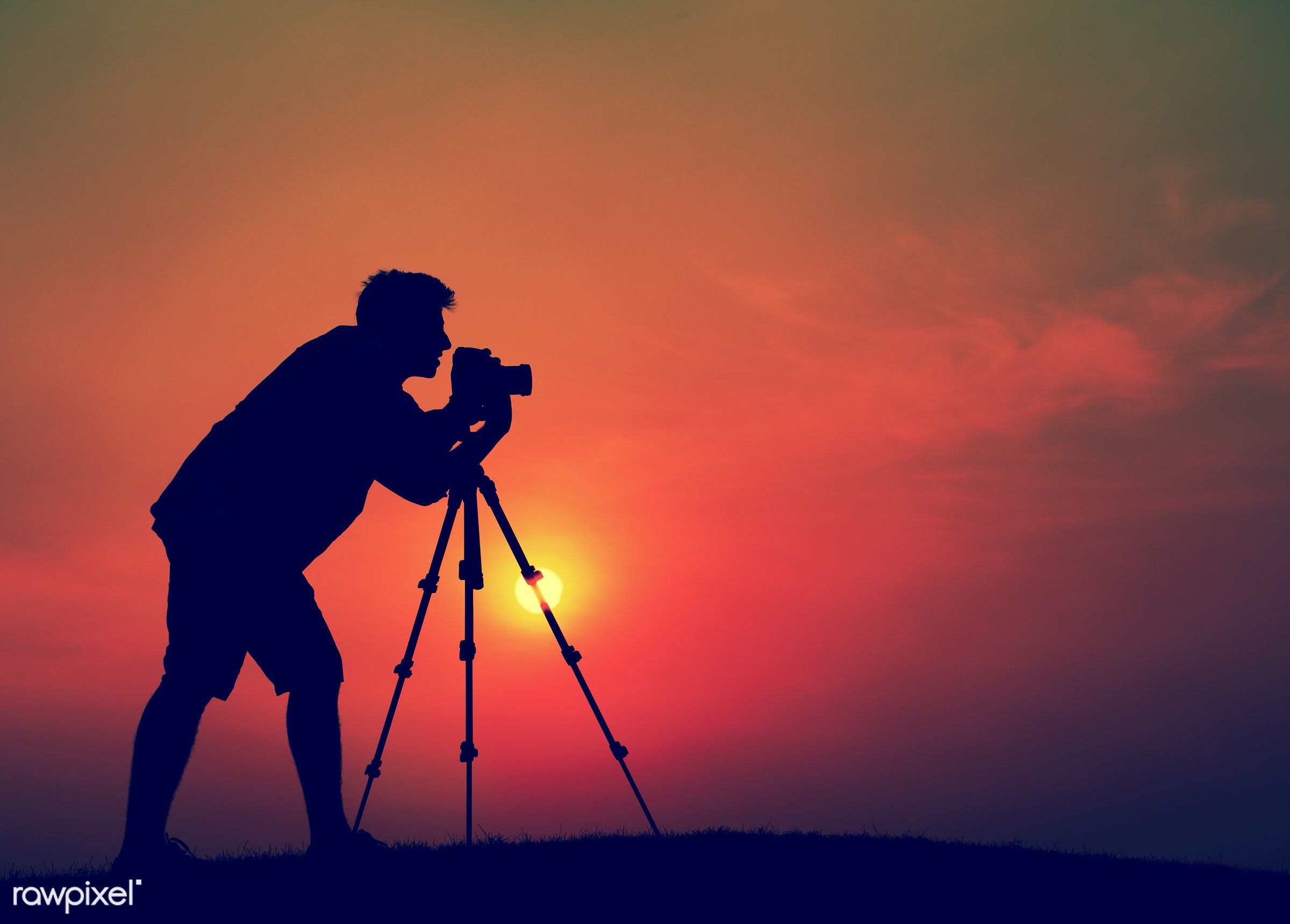 dusk, artist, back lit, camera, capture, creative, dawn, determination, field, focus, grass, hobby, horizon, image,...
