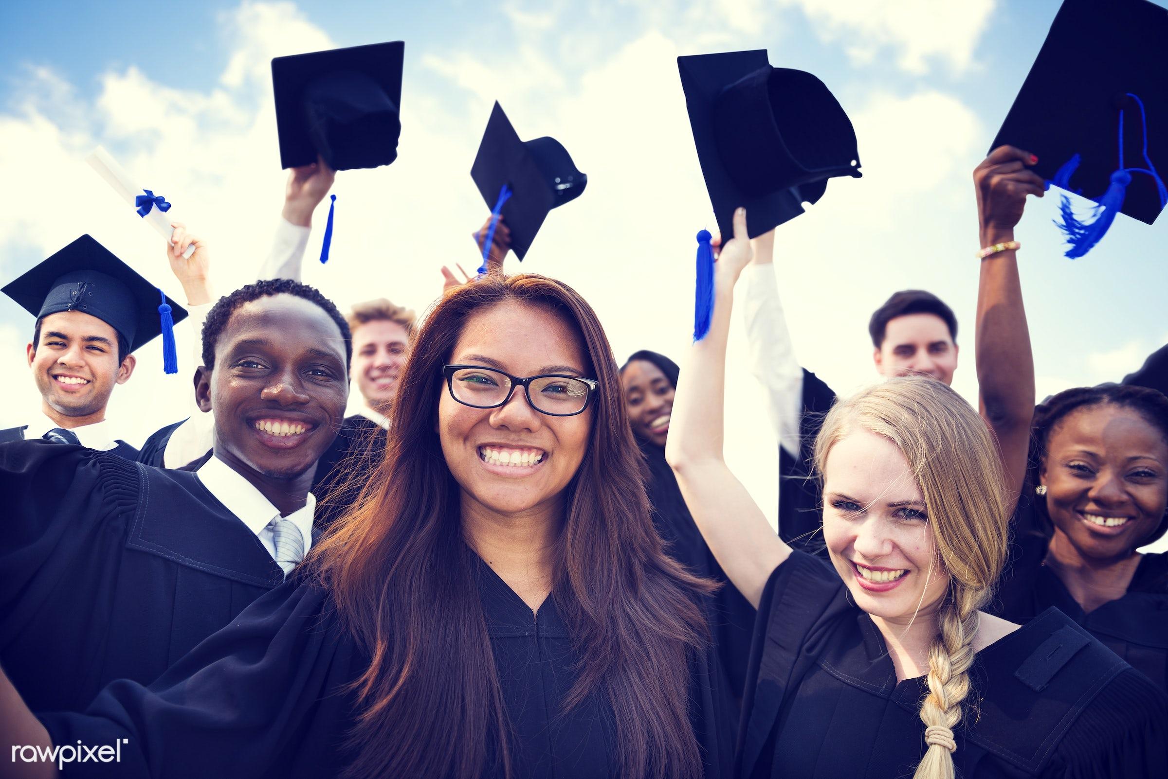 hat, academic, achievement, african, african descent, campus, cap, celebration, ceremony, certificate, cheerful, college,...